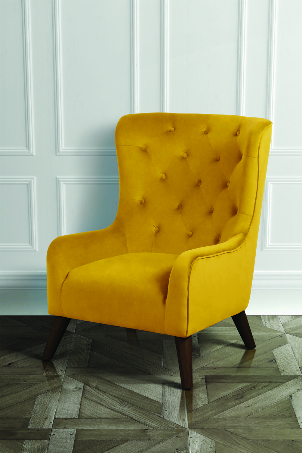 Dorchester Lounge Armchair, Mustard Yellow | Living Room Within Dorcaster Barrel Chairs (View 14 of 15)