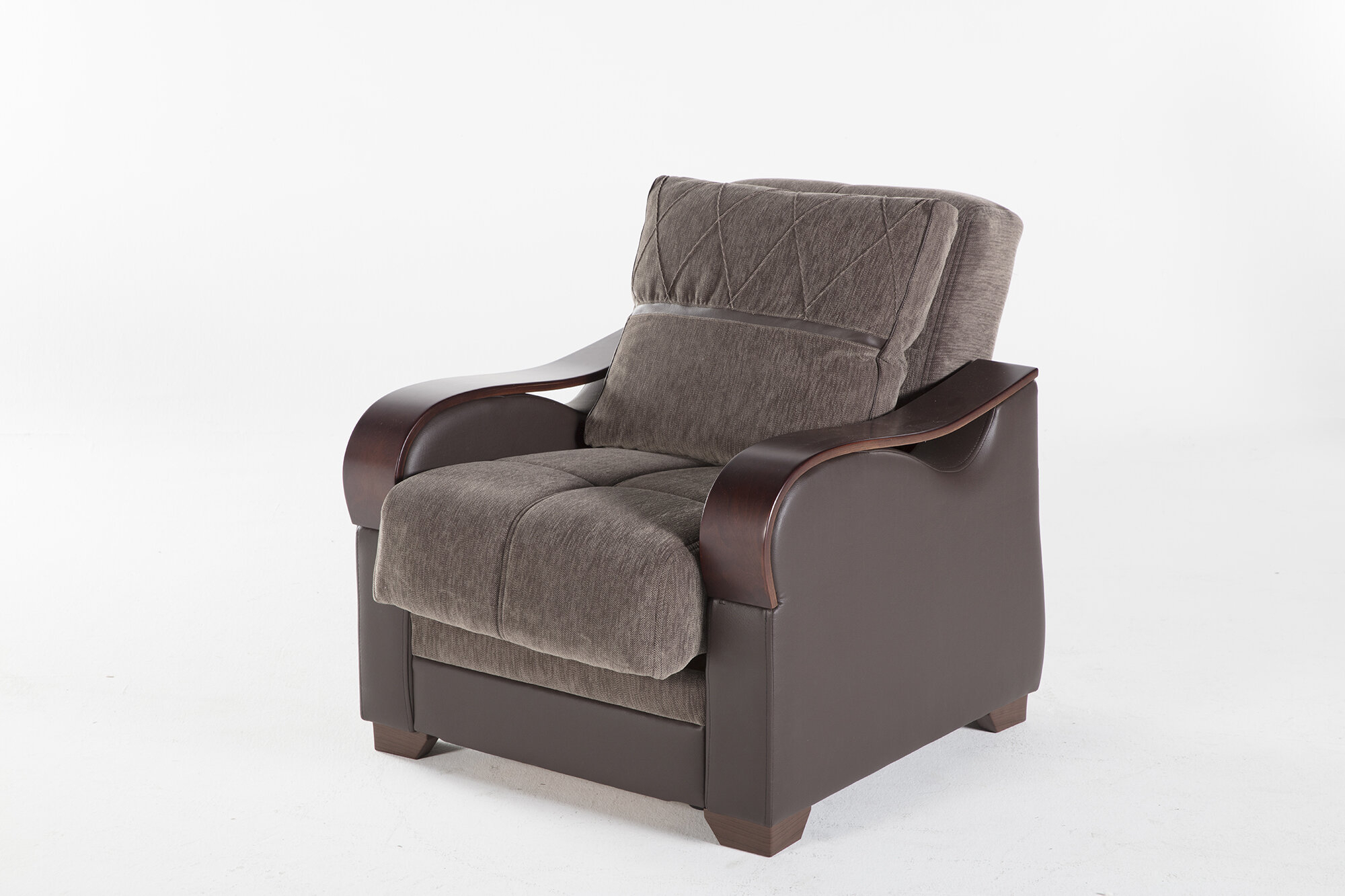 Dougie Convertible Chair Throughout Blaithin Simple Single Barrel Chairs (View 5 of 15)