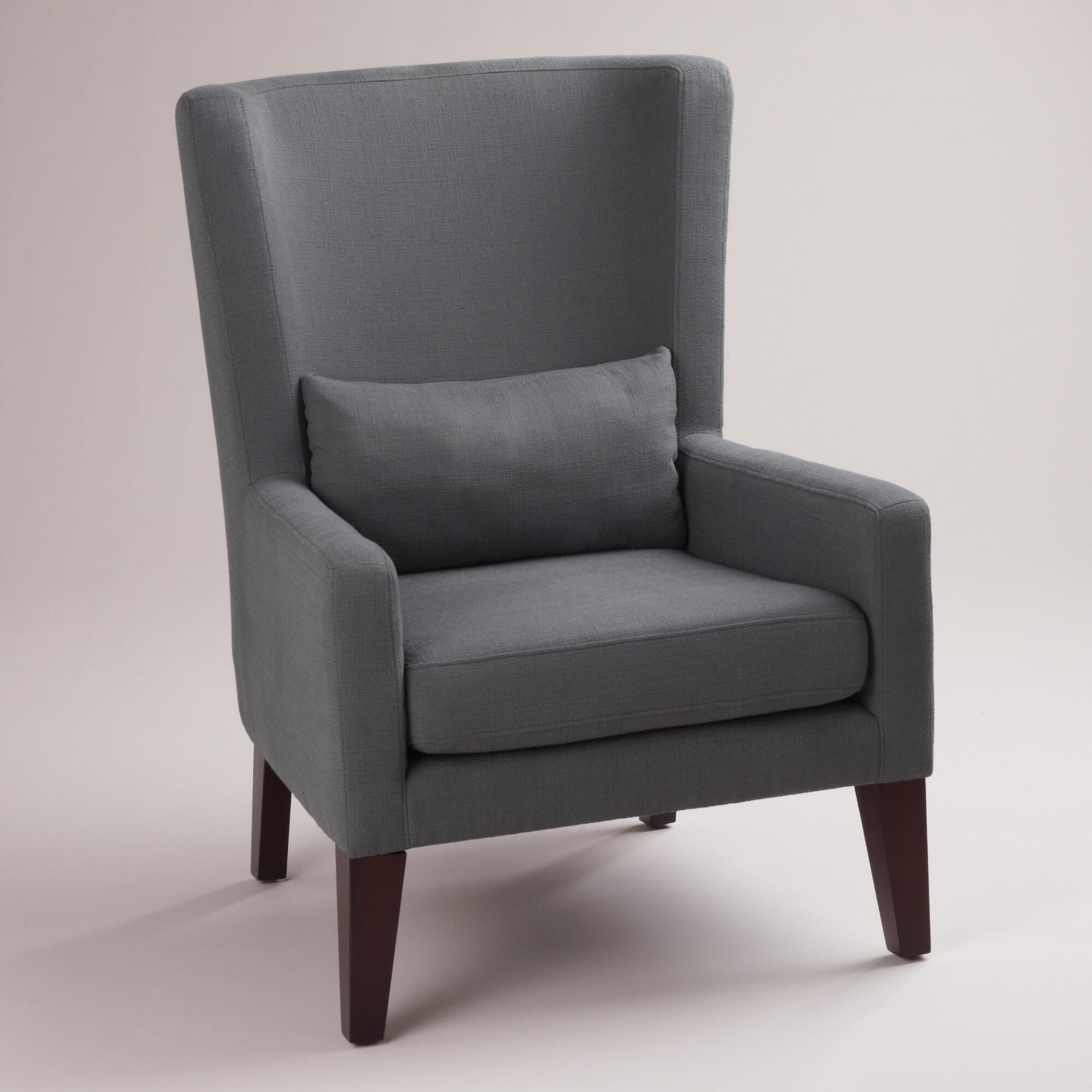 Dove Gray Triton High Back Chair | High Back Chairs, Living With Regard To Allis Tufted Polyester Blend Wingback Chairs (View 6 of 15)