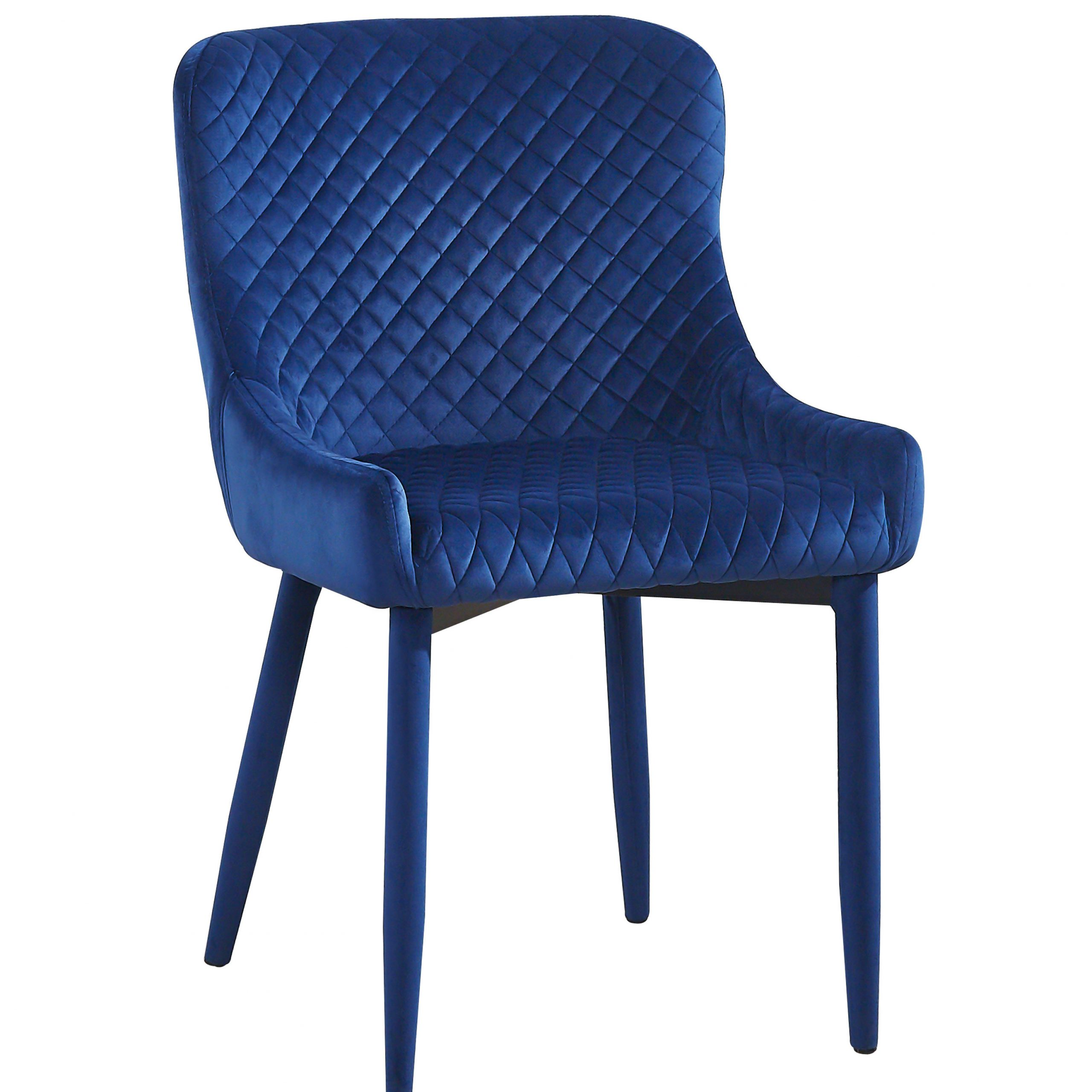 Draco Navy Velvet Chair With Regard To Draco Armchairs (View 5 of 15)