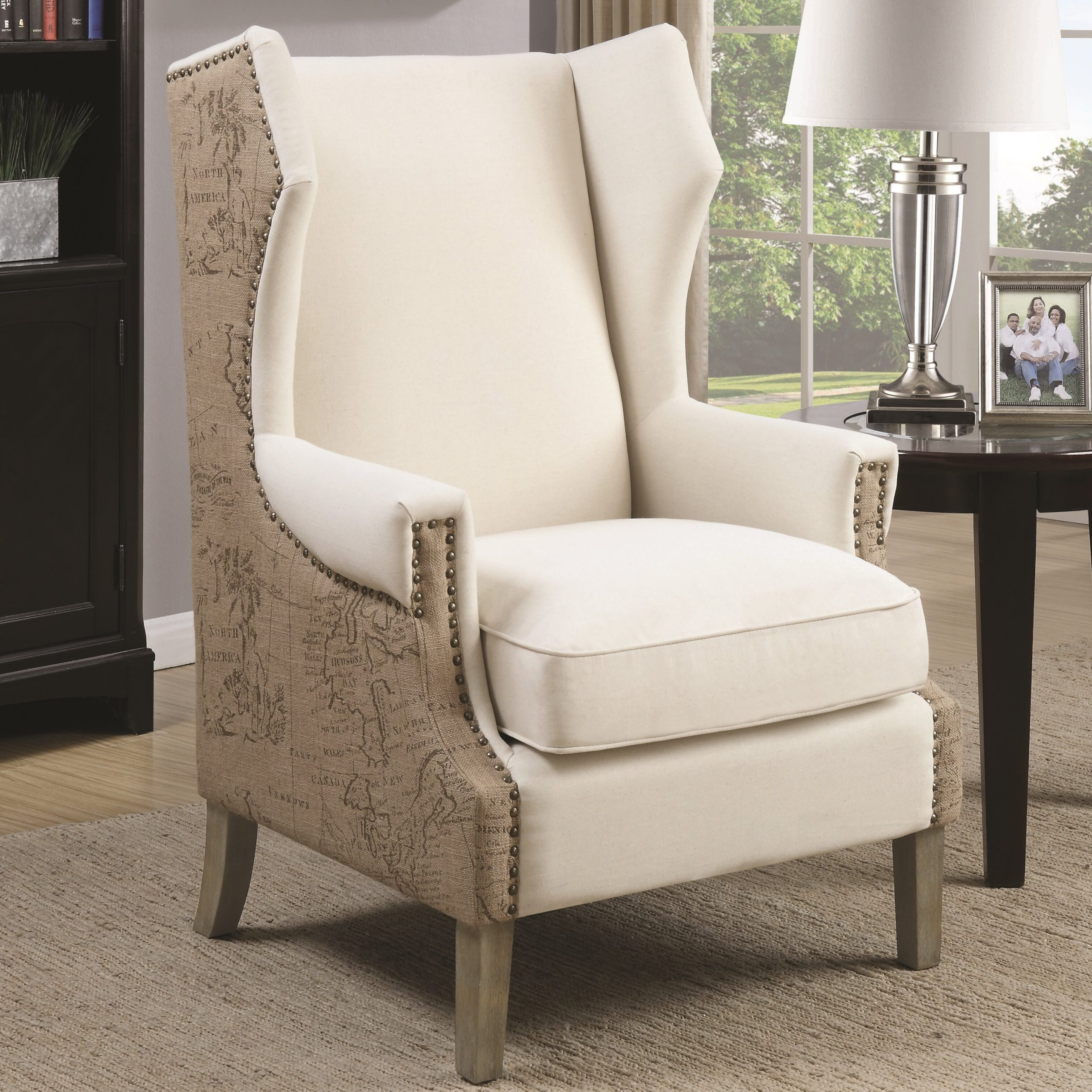 Durrant Wingback Chair With Busti Wingback Chairs (View 8 of 15)