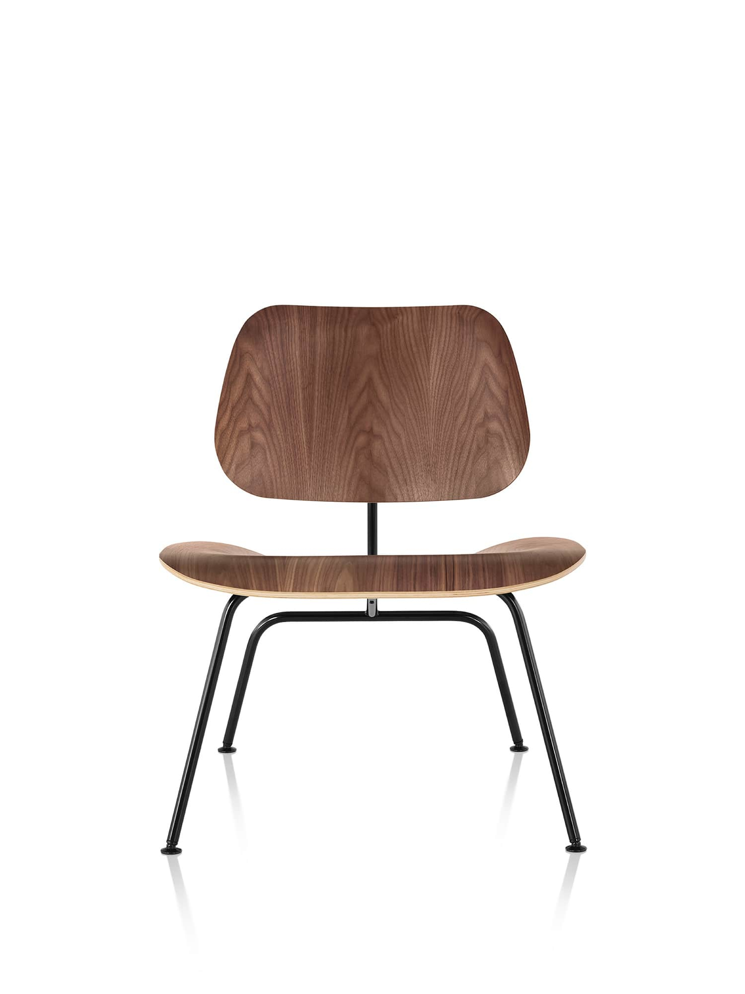 Eames Molded Plywood Lounge Chair With Metal Base – Herman Intended For Lounge Chairs With Metal Leg (View 15 of 15)