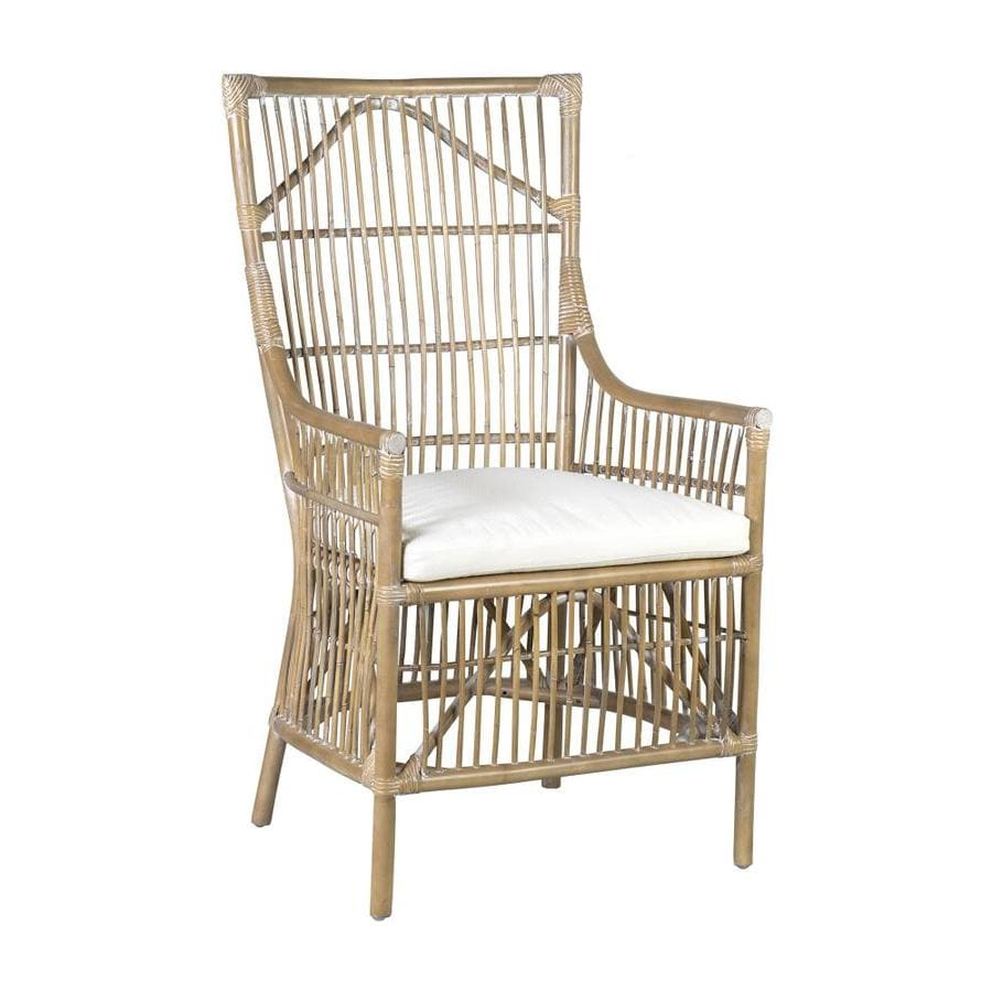 East At Main Casual Polyester/Polyester Blend Dining Arm Chair (Rattan  Frame) Inside Leia Polyester Armchairs (View 13 of 15)