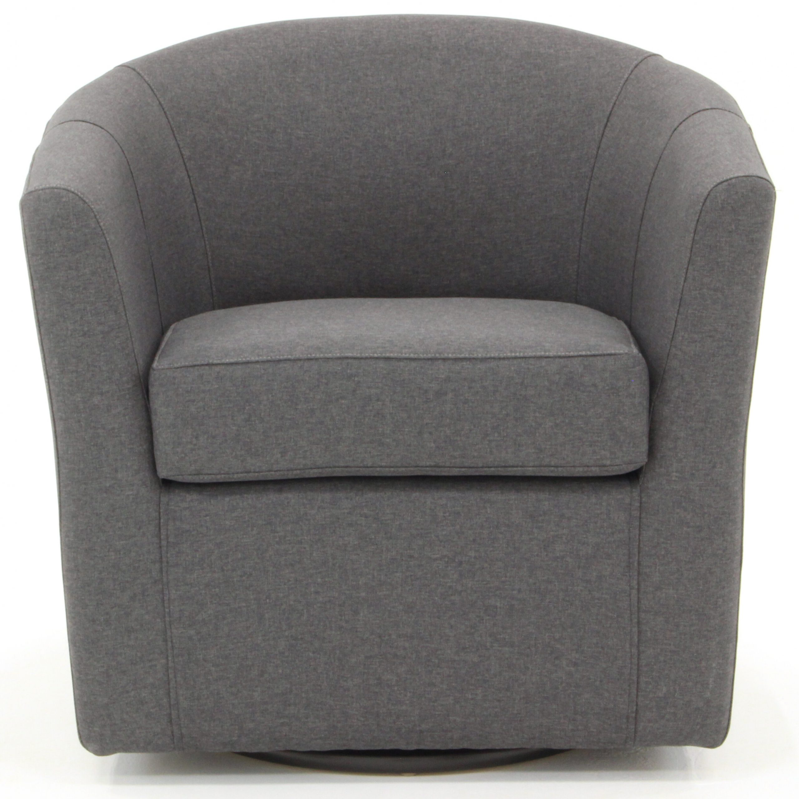 Ebern Designs Molinari Swivel Barrel Chair & Reviews | Wayfair For Danow Polyester Barrel Chairs (View 9 of 15)