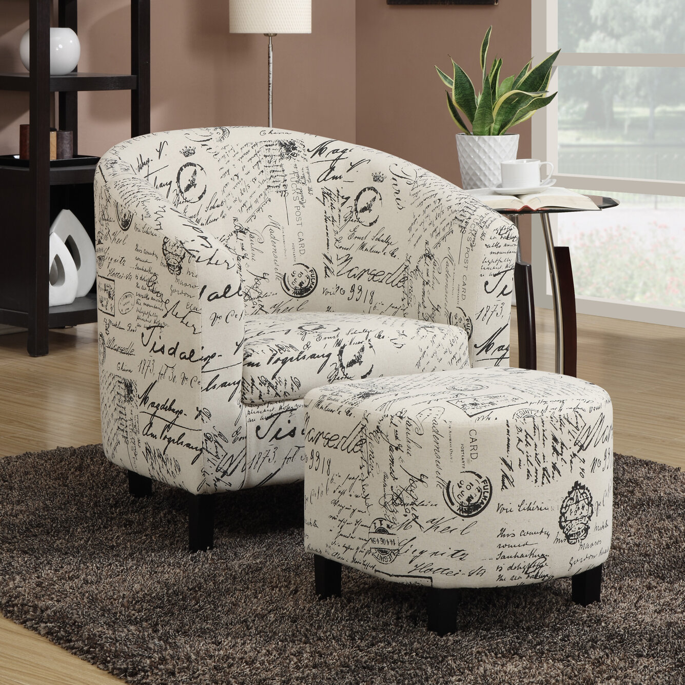 Emory Barrel Chair With Ottoman Pertaining To Lau Barrel Chairs (View 6 of 15)