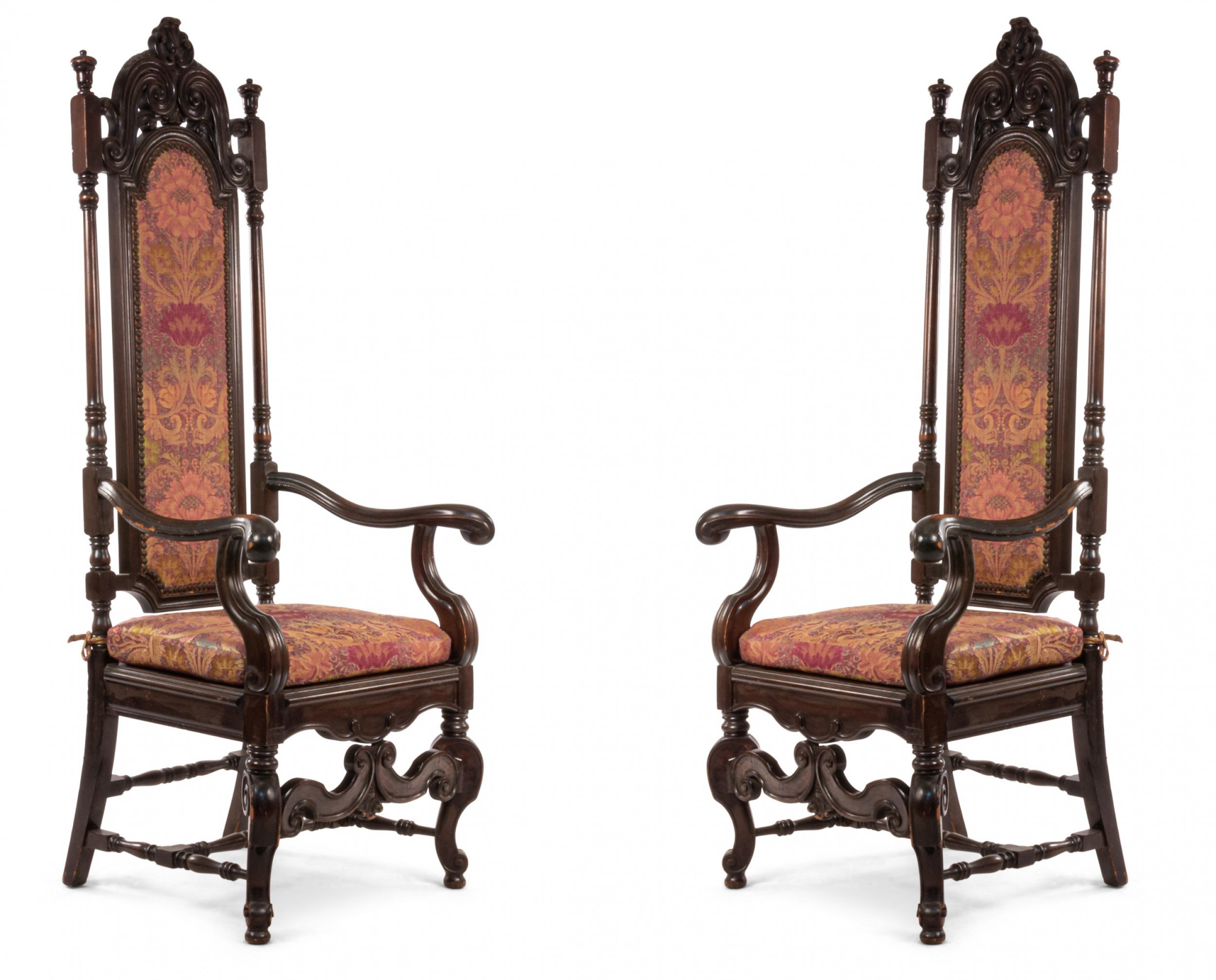 English James Ii Walnut Arm Chair 1 For James Armchairs (View 6 of 15)