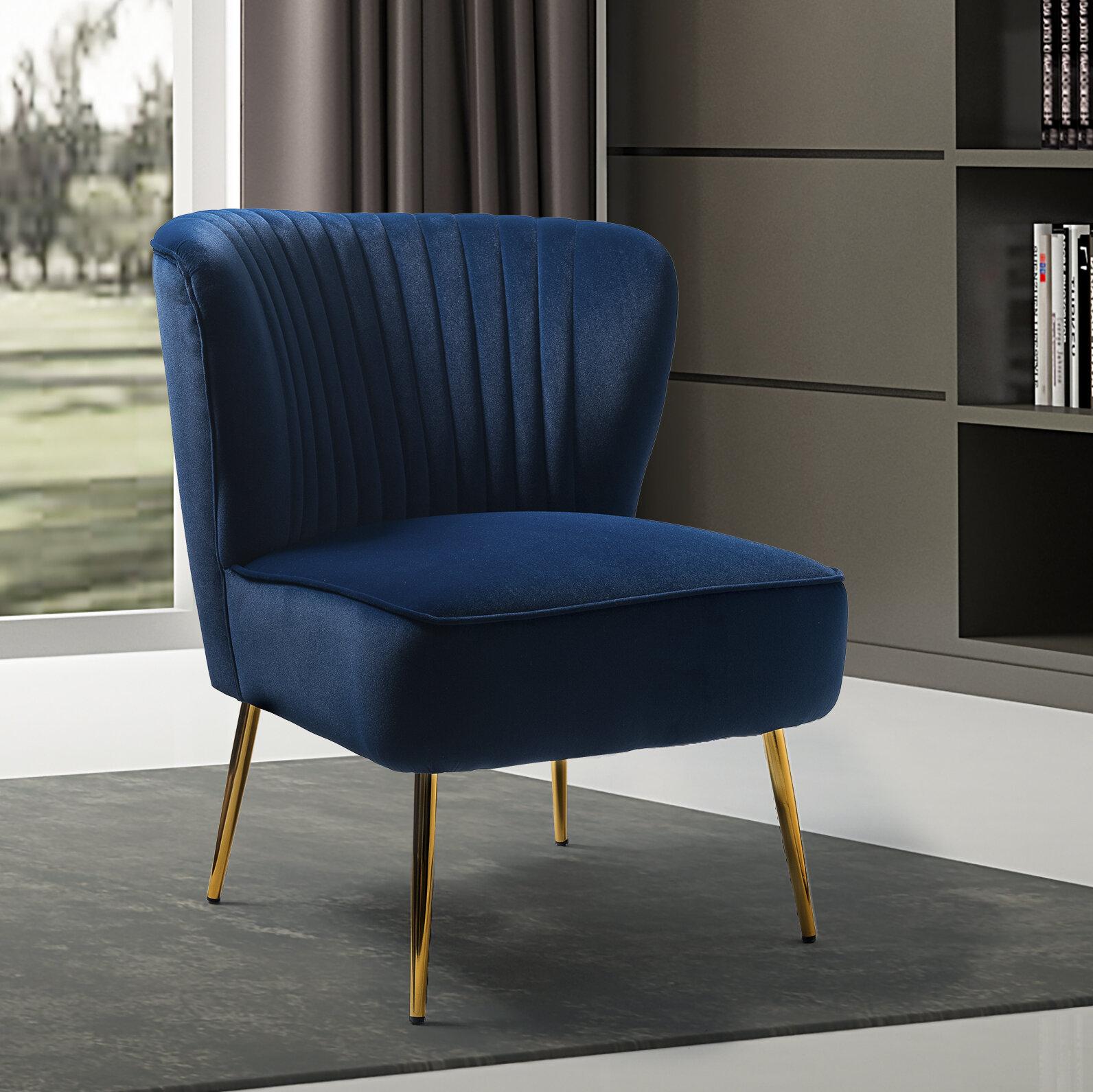 Erasmus Side Chair Regarding Easterling Velvet Slipper Chairs (View 8 of 15)