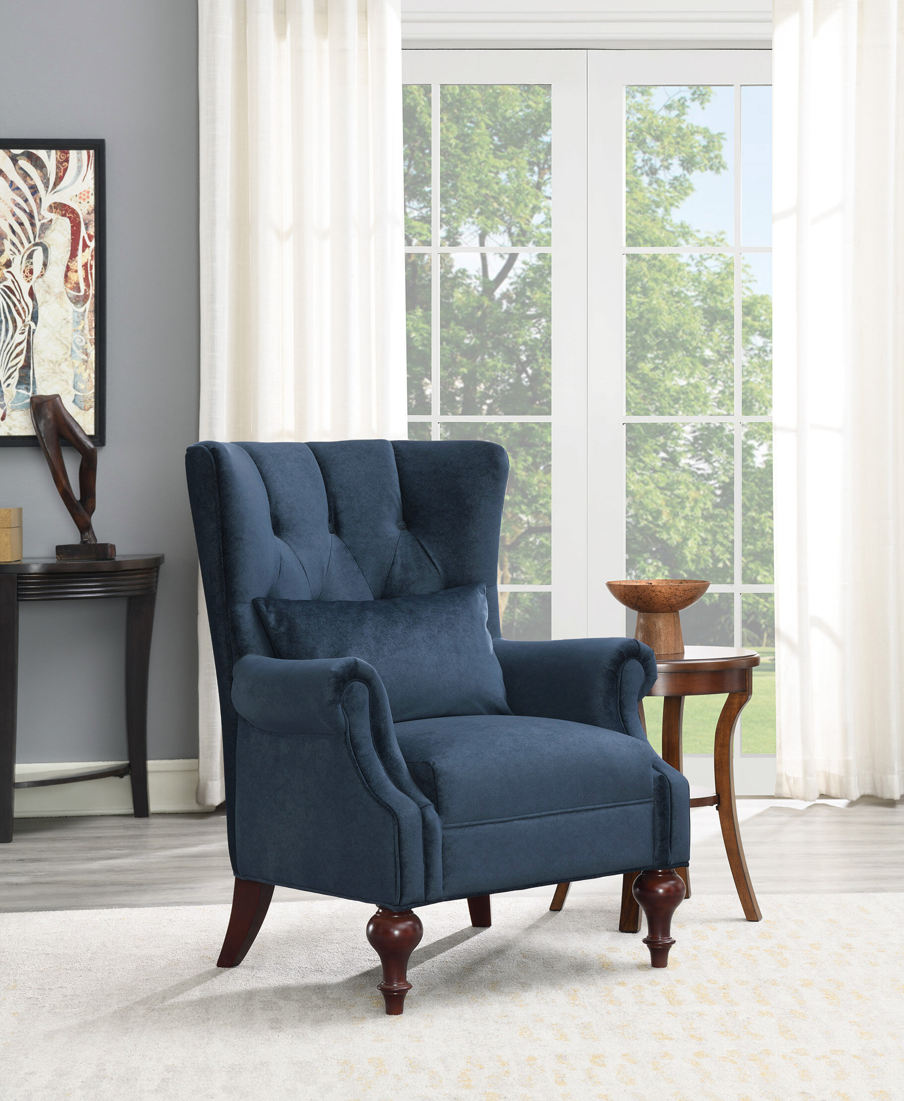 Escoto Wingback Chair In Andover Wingback Chairs (View 14 of 15)