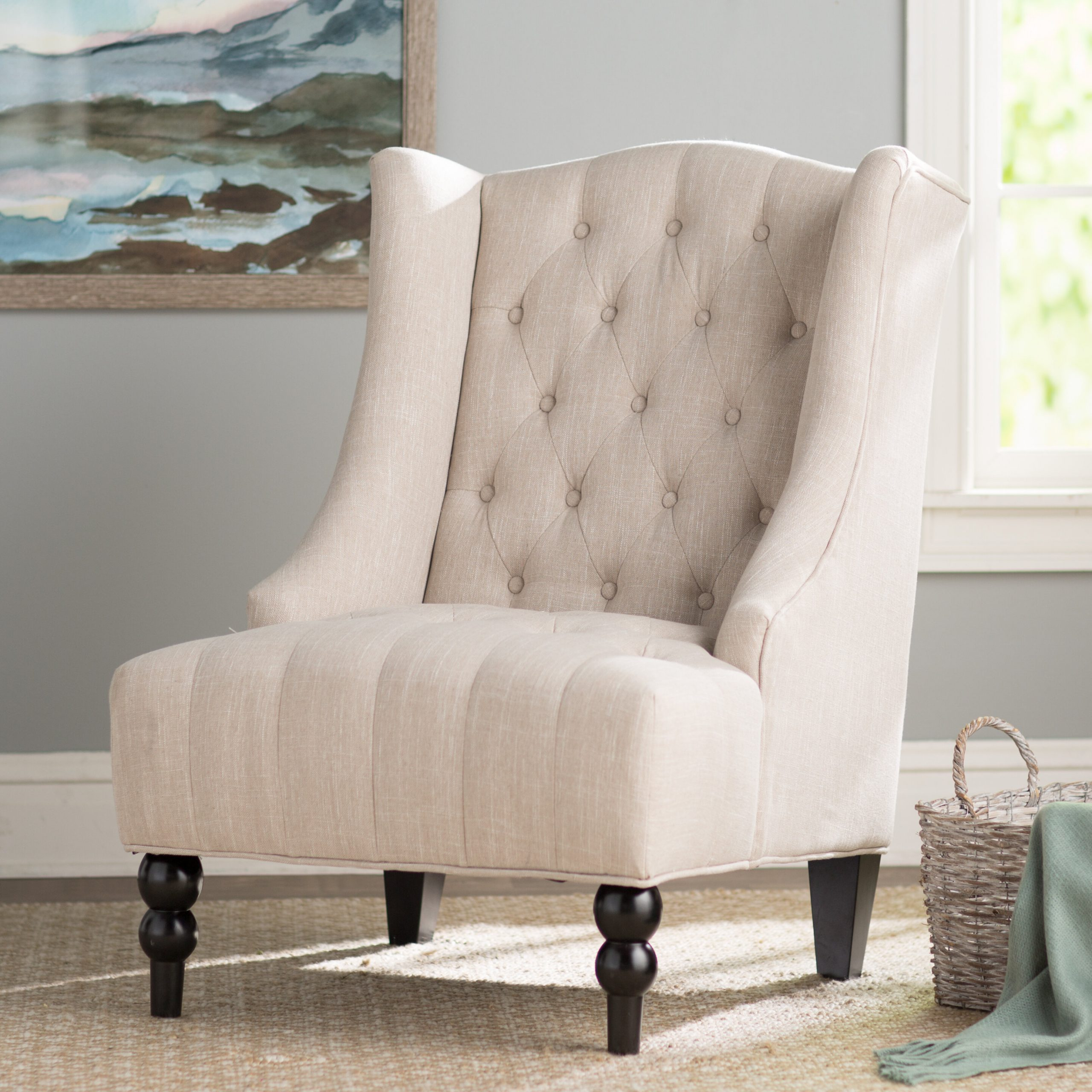 Espresso Wood Wingback Accent Chairs You'Ll Love In 2021 In Waterton Wingback Chairs (View 4 of 15)