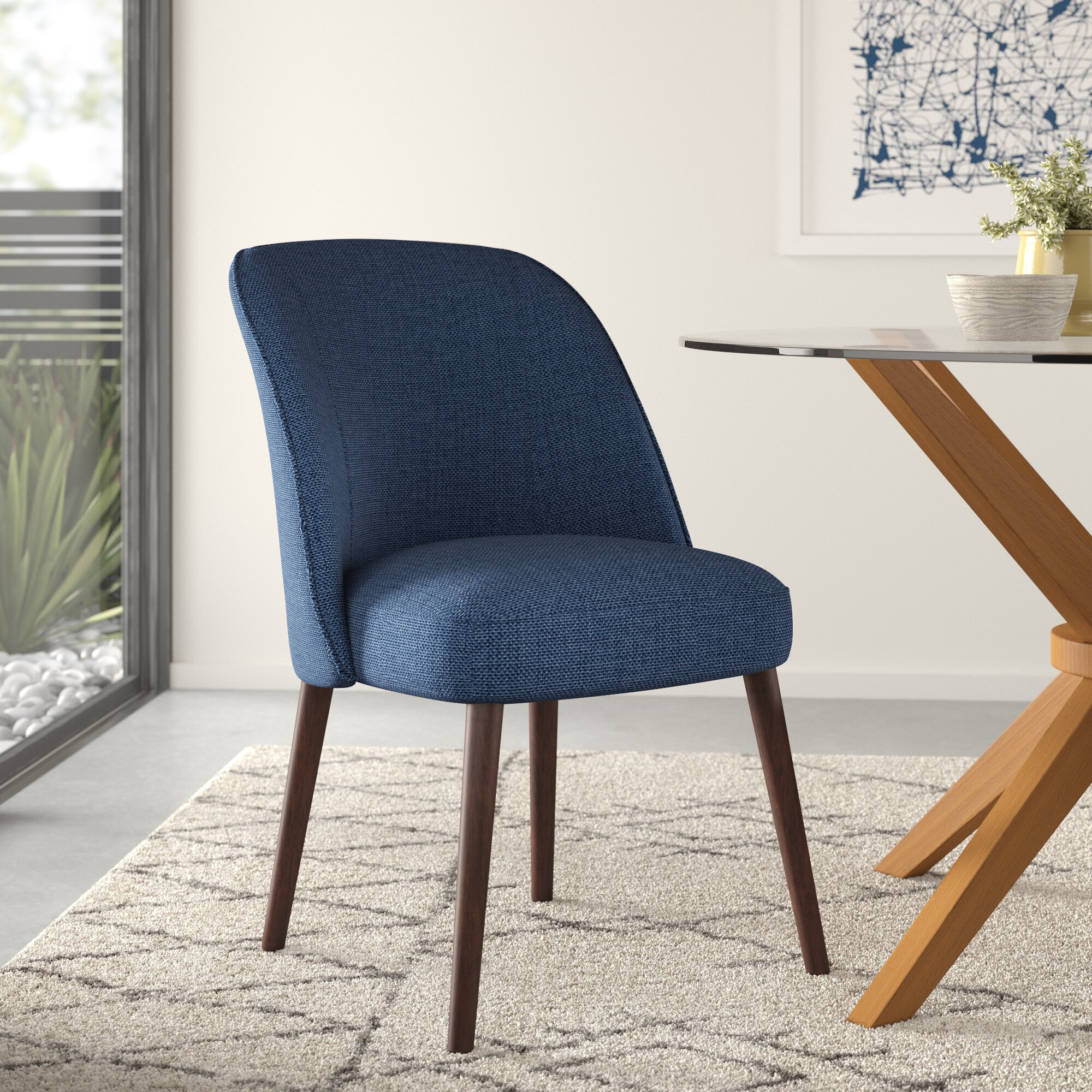 Fabric Kitchen & Dining Chairs You'Ll Love In 2021 | Wayfair Throughout Madison Avenue Tufted Cotton Upholstered Dining Chairs (Set Of 2) (View 6 of 15)