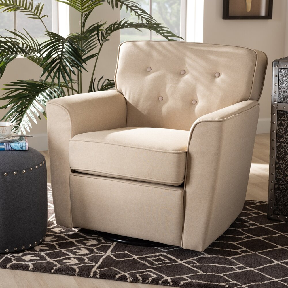 Fabric Swivel Armchair Pertaining To Vineland Polyester Swivel Armchairs (View 12 of 15)