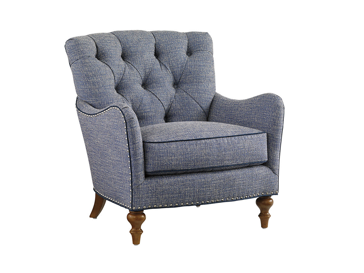 Farmhouse & Rustic Tufted Accent Chairs | Birch Lane Within Galesville Tufted Polyester Wingback Chairs (View 15 of 15)