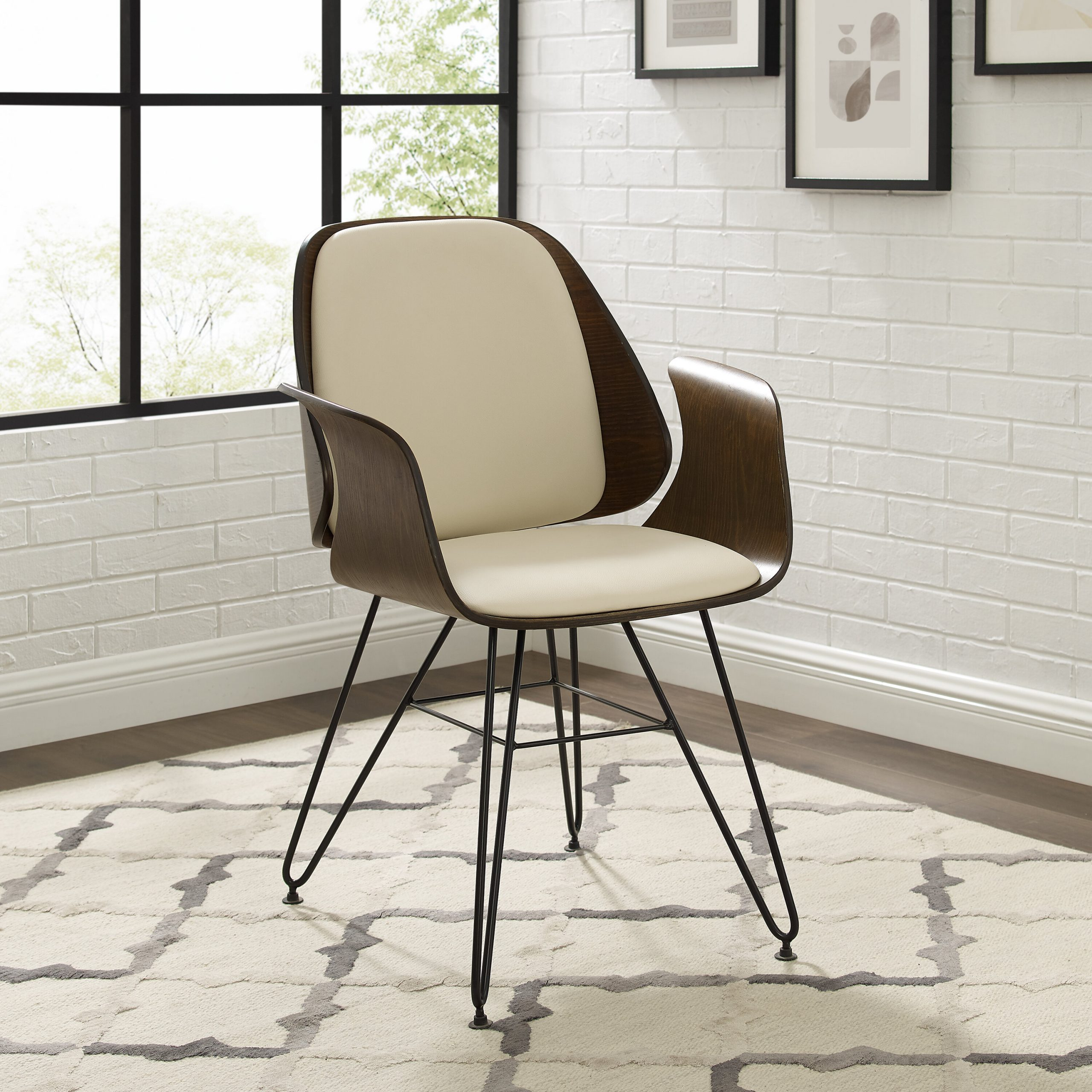 Faux Leather Accent Chairs Under $150 You'Ll Love In 2021 With Ansar Faux Leather Barrel Chairs (View 14 of 15)