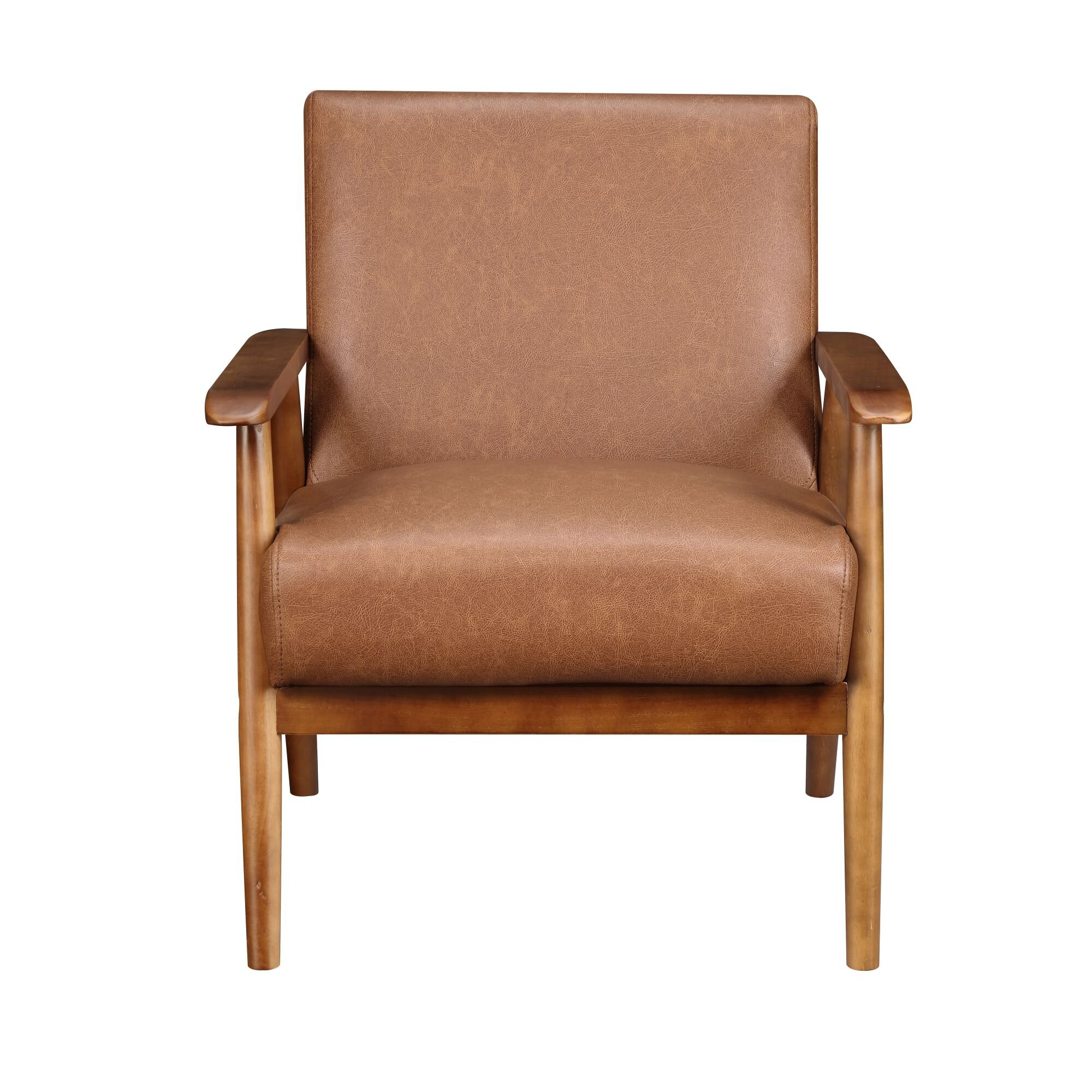 Faux Leather George Oliver Accent Chairs You'Ll Love In 2021 For Marisa Faux Leather Wingback Chairs (View 3 of 15)