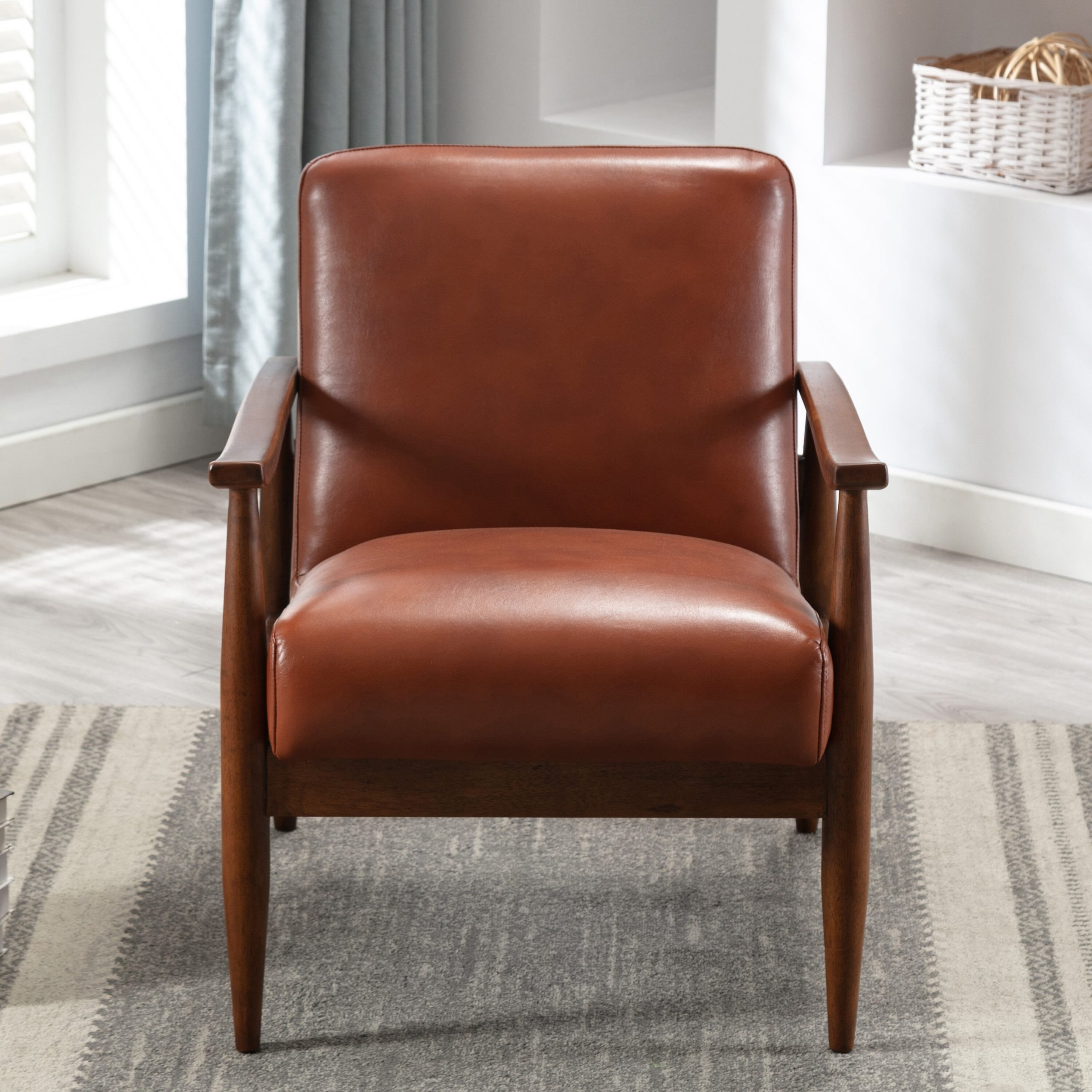 Faux Leather George Oliver Accent Chairs You'Ll Love In 2021 Regarding Marisa Faux Leather Wingback Chairs (View 6 of 15)
