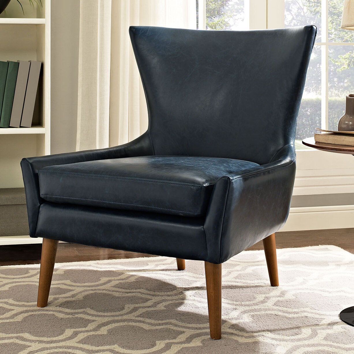 Faux Leather George Oliver Accent Chairs You'Ll Love In 2021 Throughout Marisa Faux Leather Wingback Chairs (View 15 of 15)