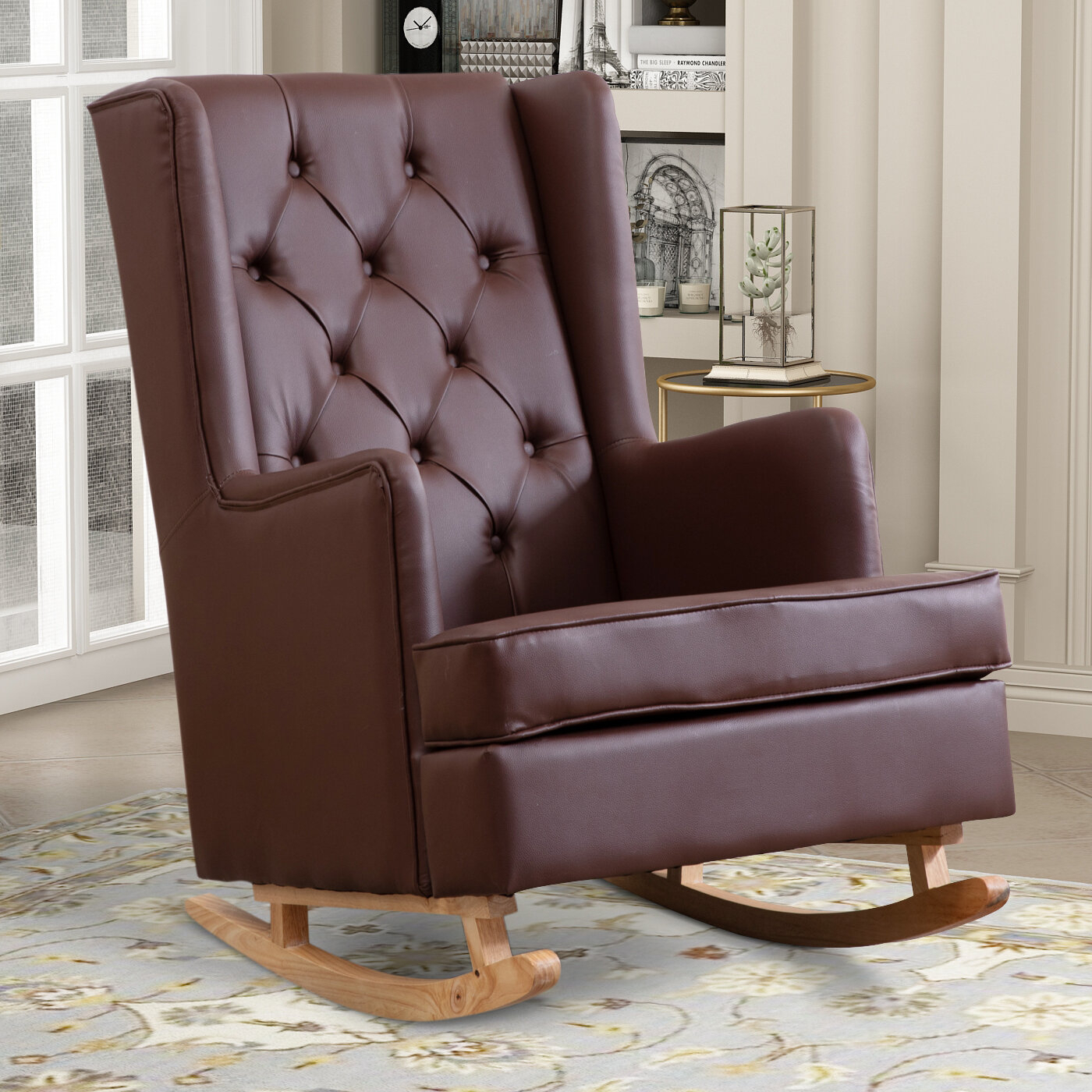 Faux Leather George Oliver Accent Chairs You'Ll Love In 2021 With Regard To Marisa Faux Leather Wingback Chairs (View 8 of 15)