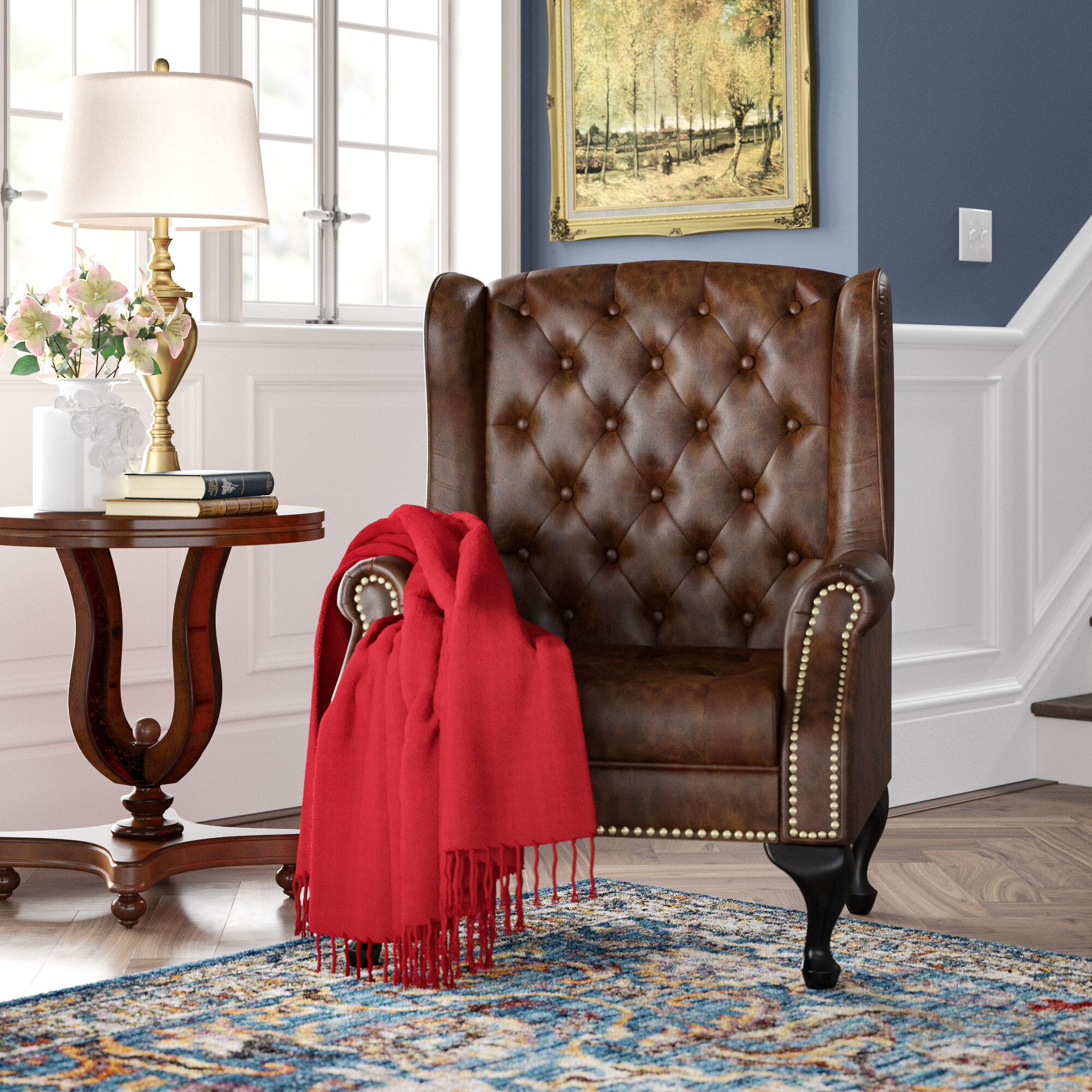 Faux Leather Wingback Accent Chairs You'Ll Love In 2021 Throughout Marisa Faux Leather Wingback Chairs (View 10 of 15)