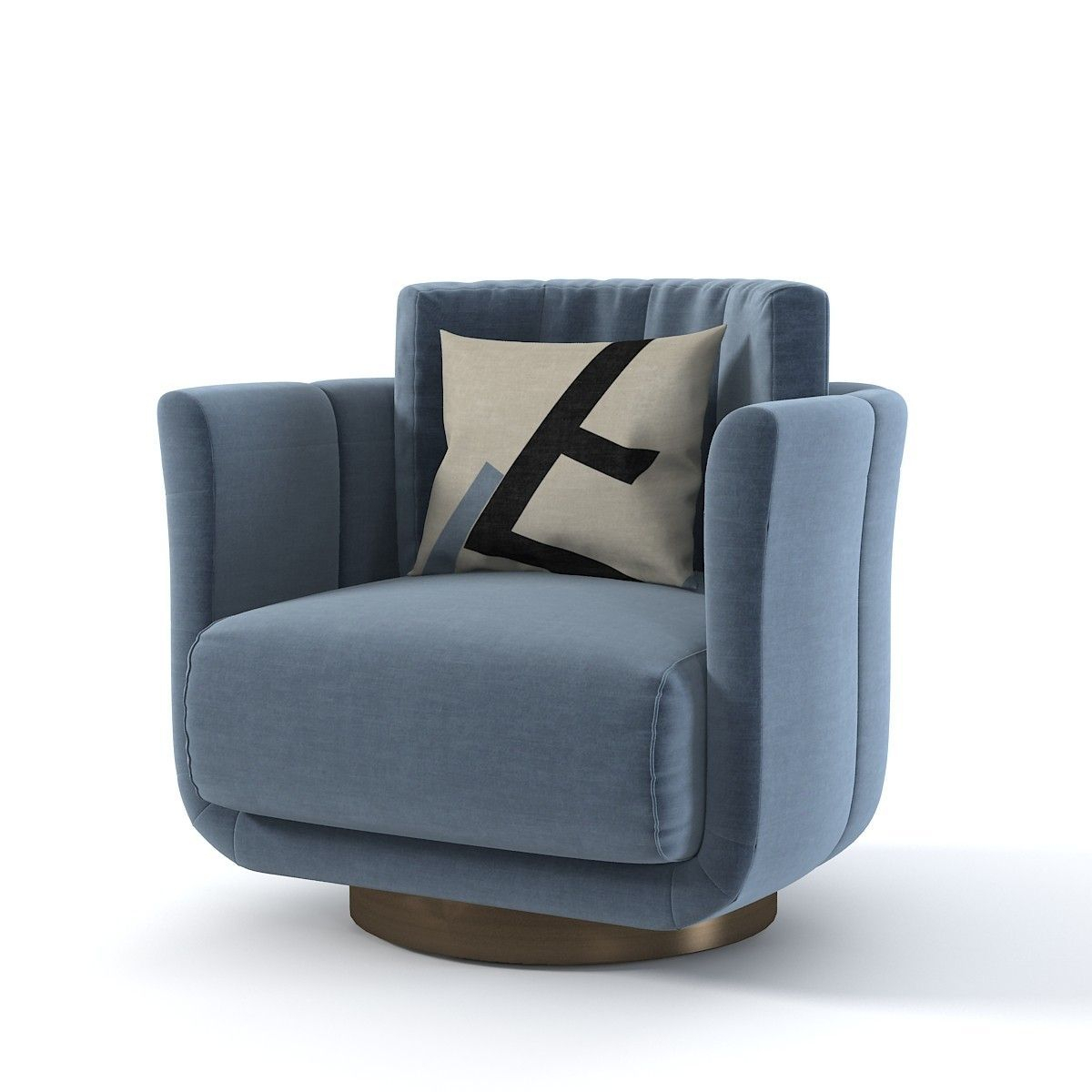 Fendi Casa Artu 3D Model #Sofachair | Italian Furniture Within Hutchinsen Polyester Blend Armchairs (View 5 of 15)