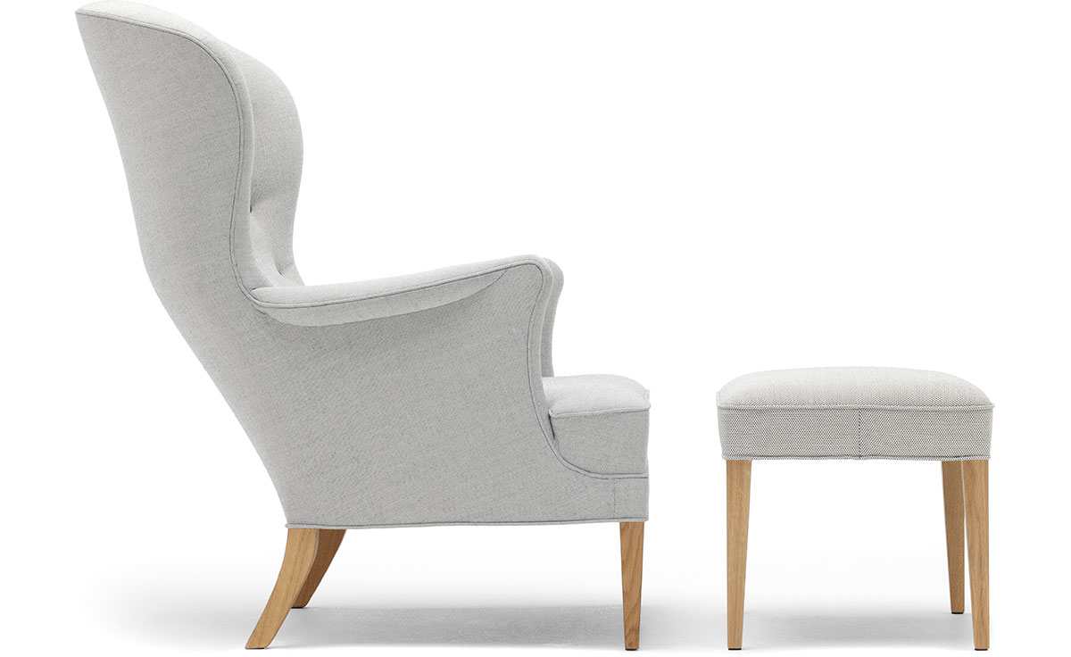 Fh419 Heritage Lounge Chair & Ottoman Within Modern Armchairs And Ottoman (View 8 of 15)