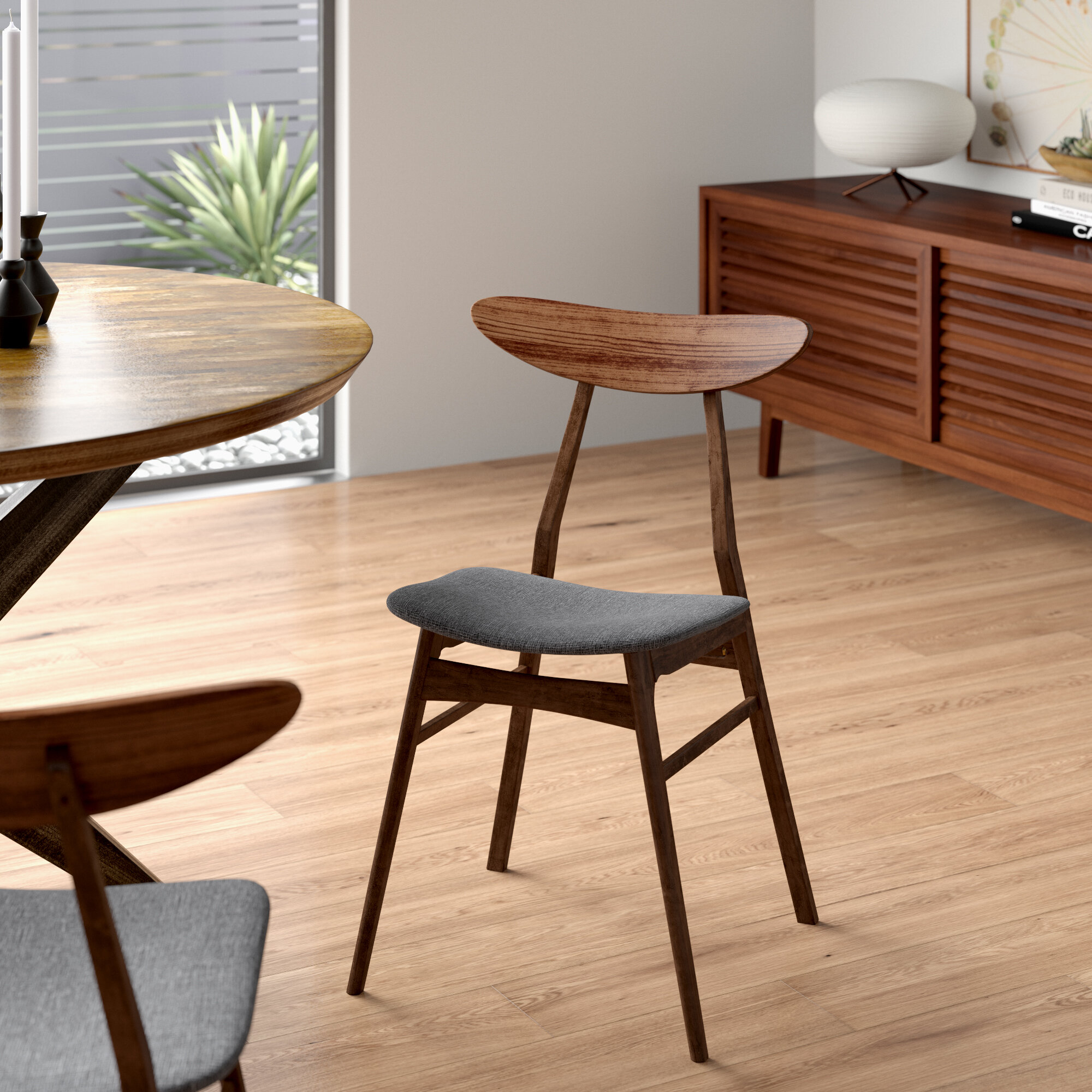 Filton Solid Wood Dining Chair With Filton Barrel Chairs (View 5 of 15)
