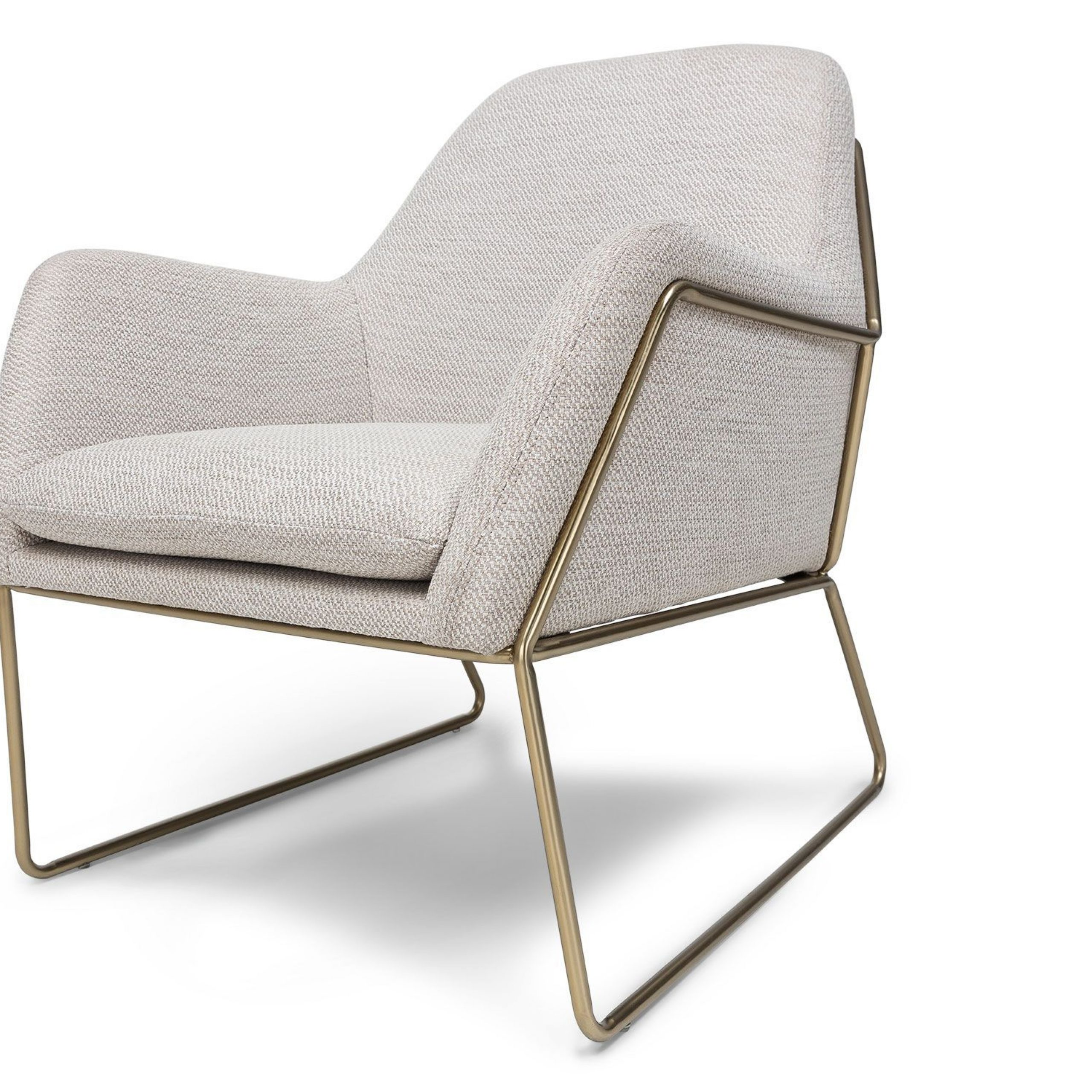 Forma Milkyway Ivory Chair – Lounge Chairs – Article In Lounge Chairs With Metal Leg (View 13 of 15)