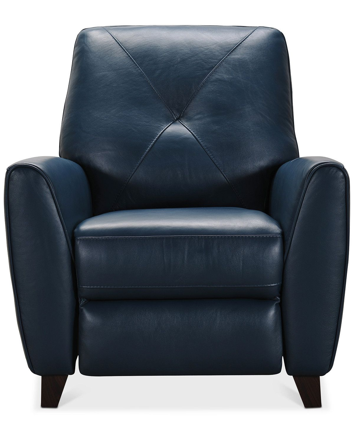 Furniture Myia Leather Pushback Recliner, Created For Macy'S For Myia Armchairs (View 11 of 15)