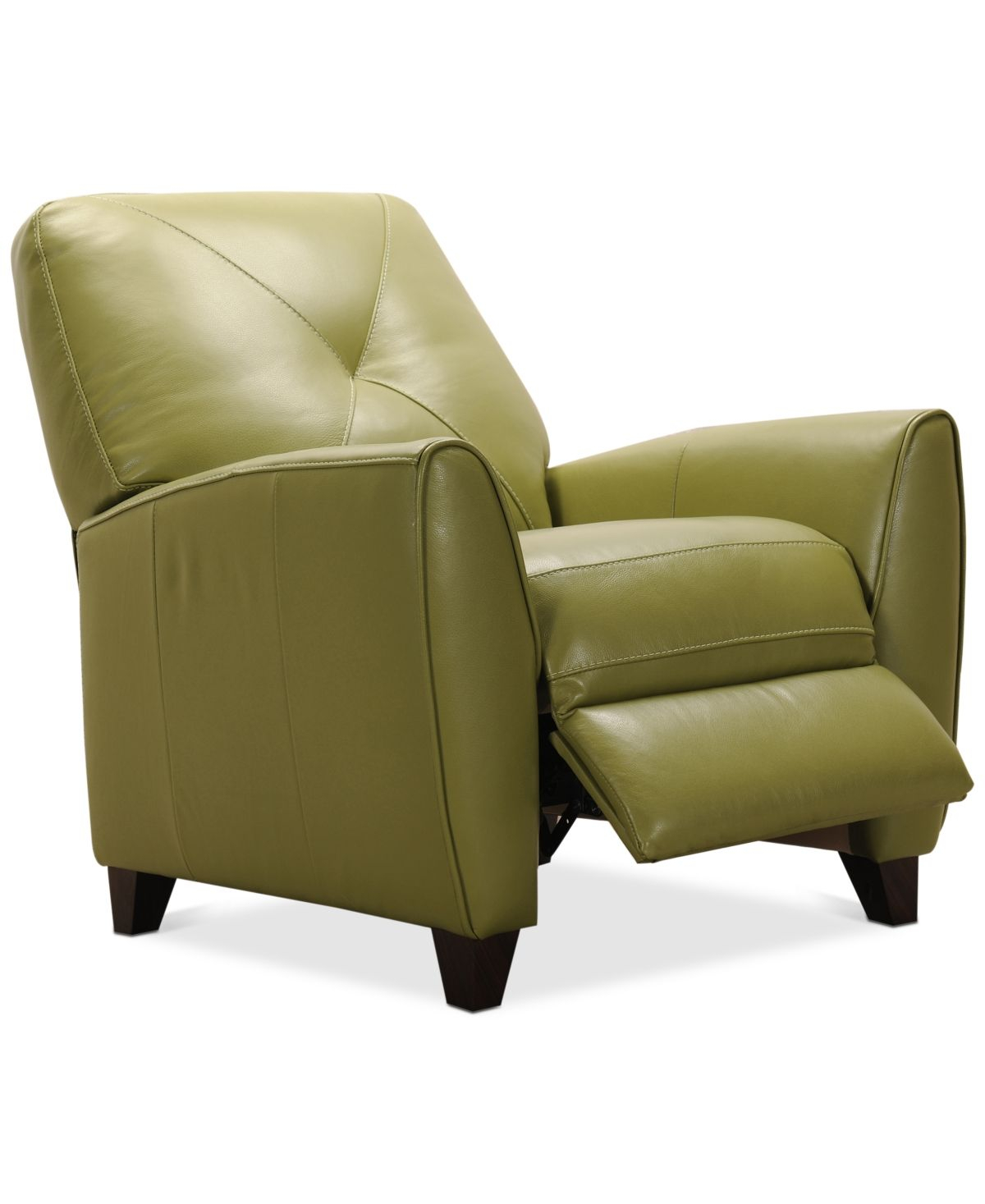 Furniture Myia Leather Pushback Recliner, Created For Macy'S For Myia Armchairs (View 9 of 15)