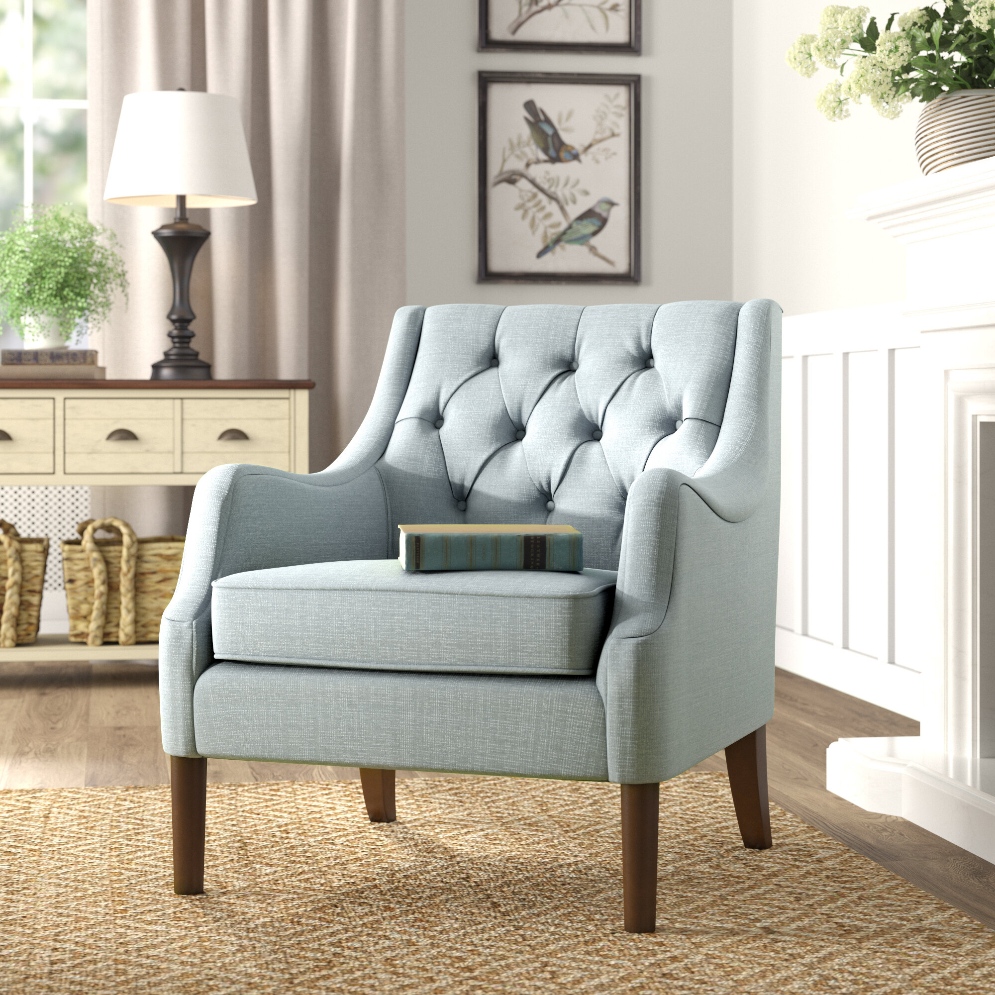 Featured Image of Galesville Tufted Polyester Wingback Chairs
