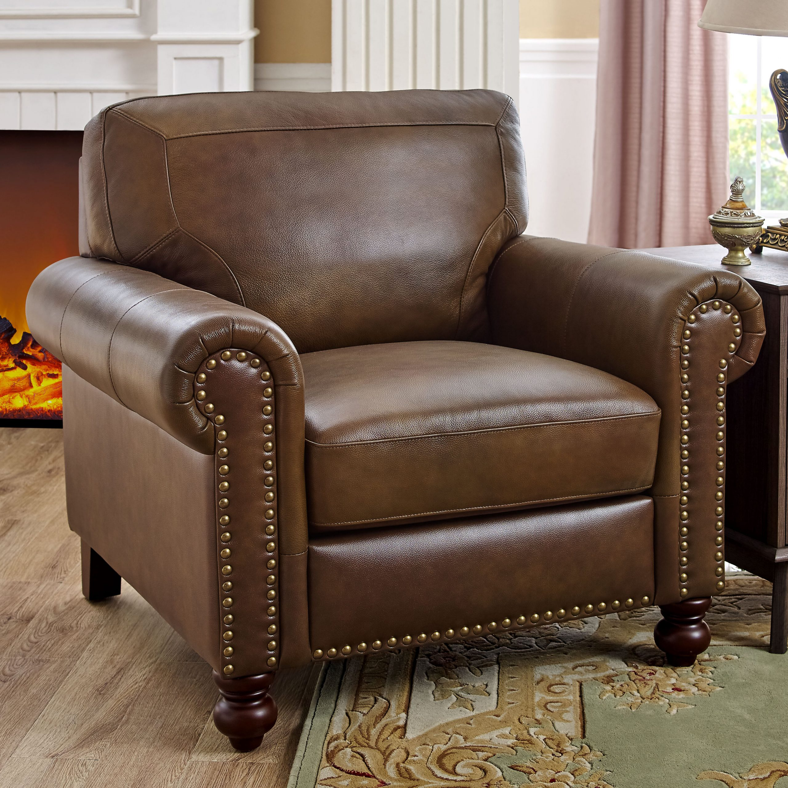 """Garr 41"""" W Leather Match Armchair With Cohutta Armchairs (View 4 of 15)"""