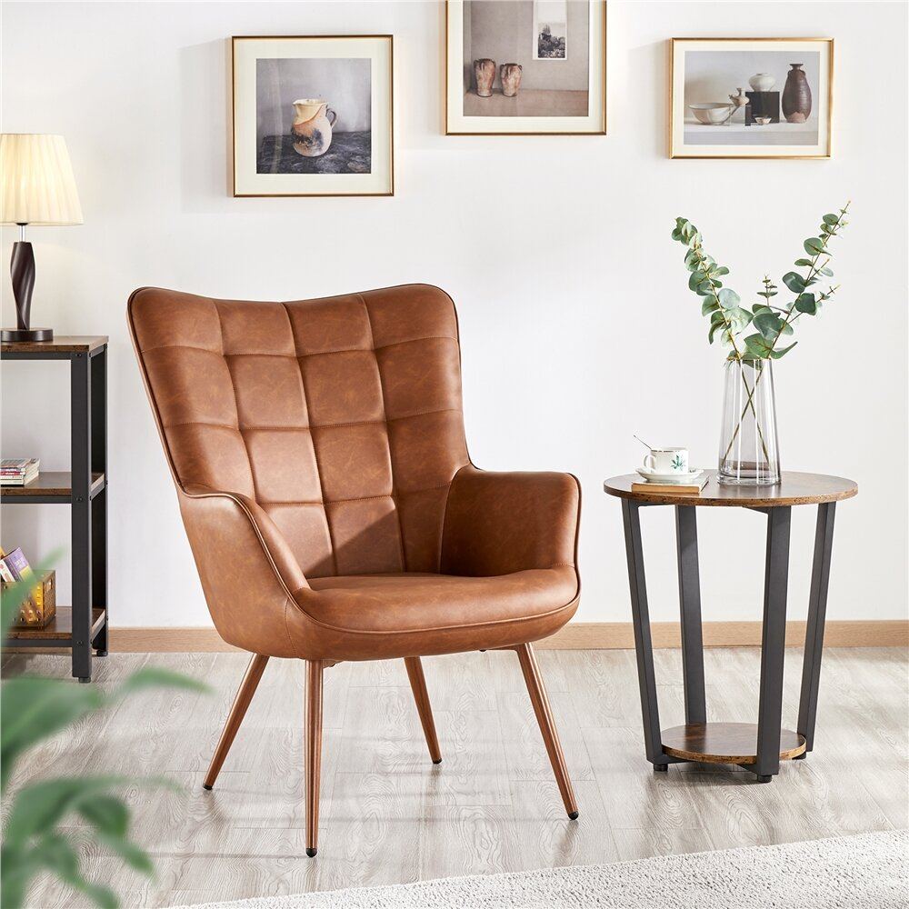 Featured Image of Marisa Faux Leather Wingback Chairs