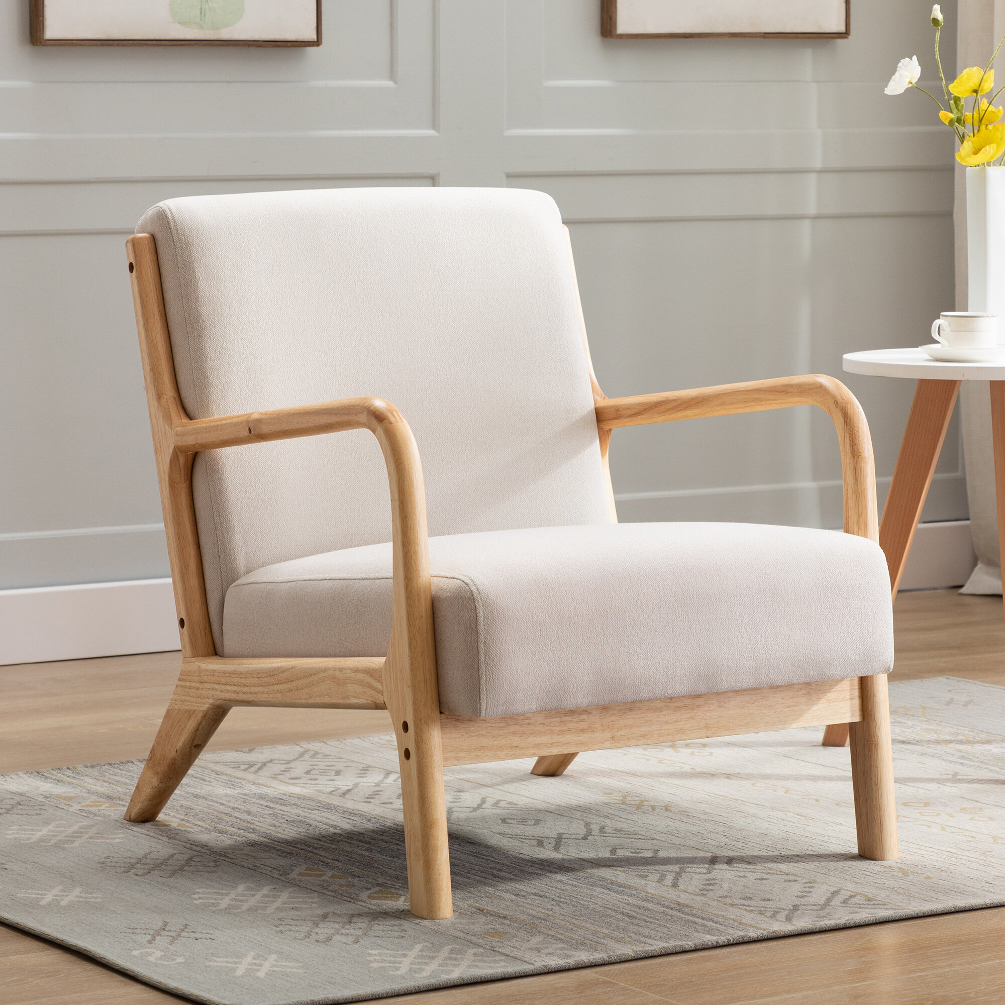 Gilmour Armchair In Ronaldo Polyester Armchairs (View 13 of 15)