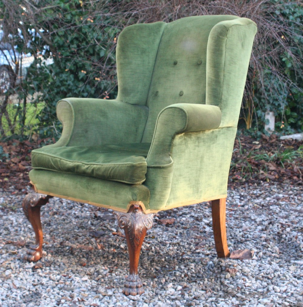 Good Georgian Style Walnut Upholstered Suite, Circa 1910 Intended For Reynolds Armchairs (View 11 of 15)