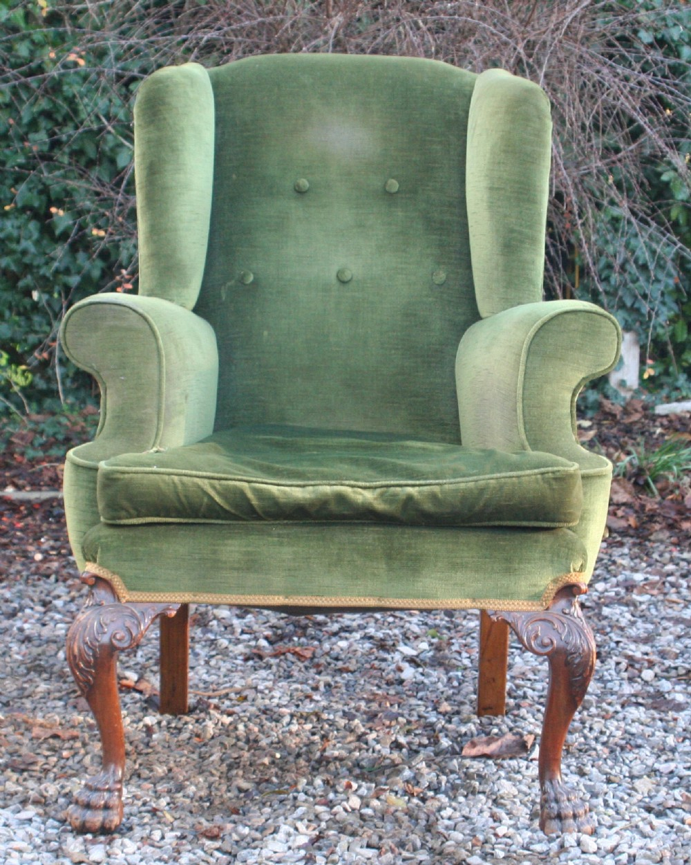 Good Georgian Style Walnut Upholstered Suite, Circa 1910 Within Reynolds Armchairs (View 8 of 15)