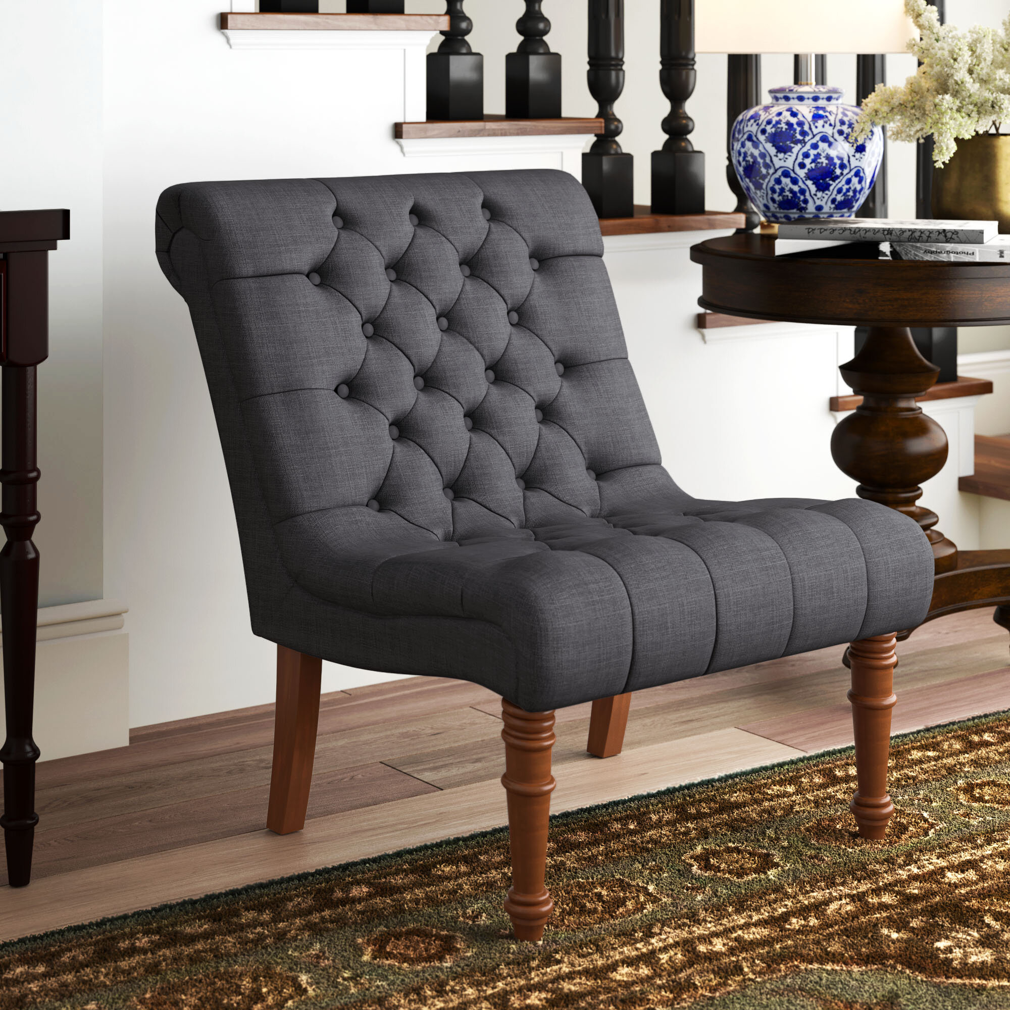 Grey Slipper Accent Chairs You'Ll Love In 2021 | Wayfair Pertaining To Goodspeed Slipper Chairs (Set Of 2) (View 7 of 15)