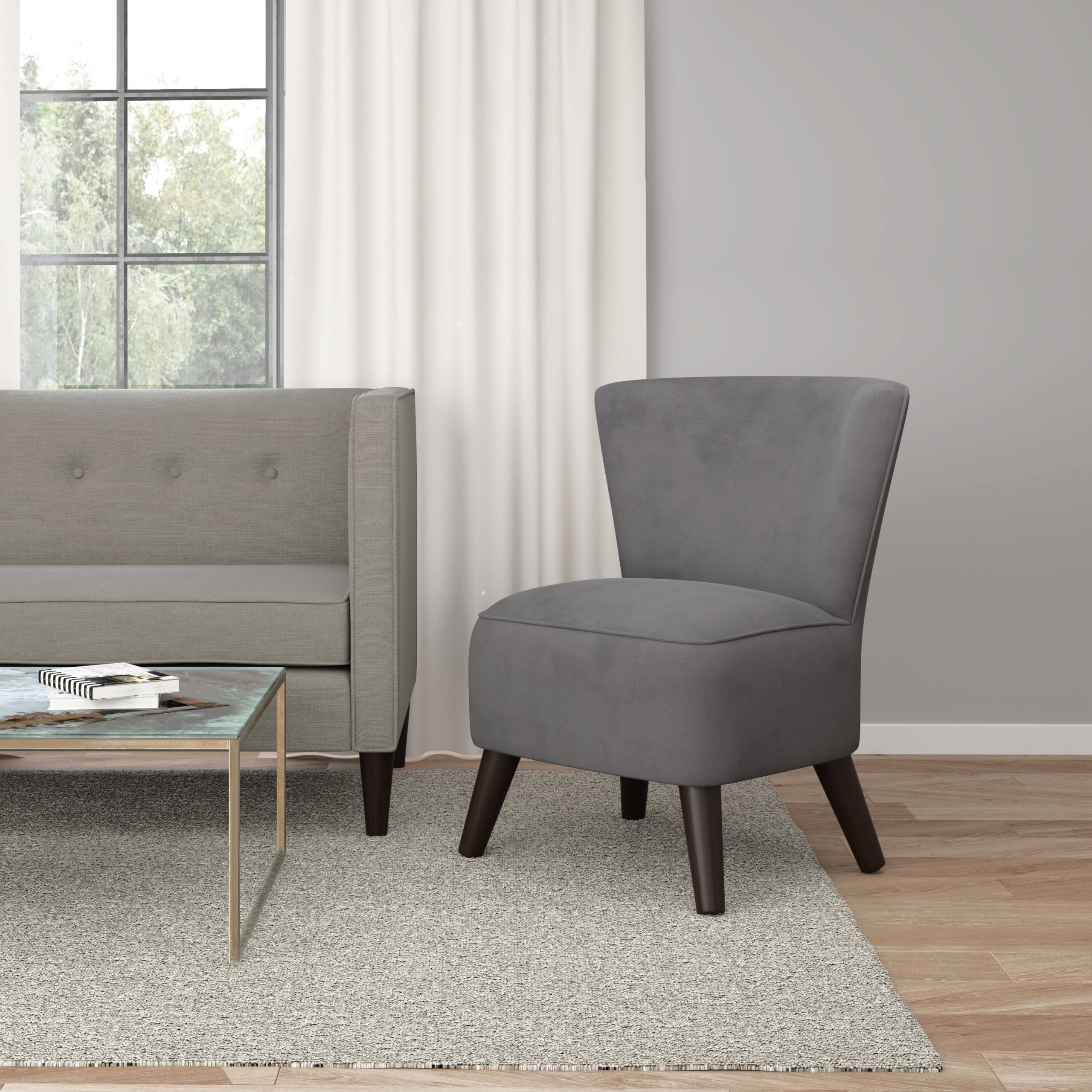 Grey Slipper Accent Chairs You'Ll Love In 2021 | Wayfair With Regard To Goodspeed Slipper Chairs (Set Of 2) (View 8 of 15)