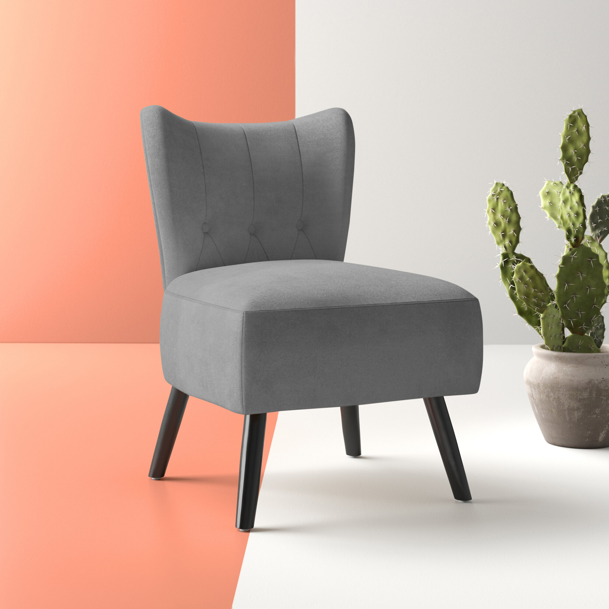 Grey & Yellow Accent Chairs You'Ll Love In 2021 | Wayfair Inside Bernardston Armchairs (View 6 of 15)