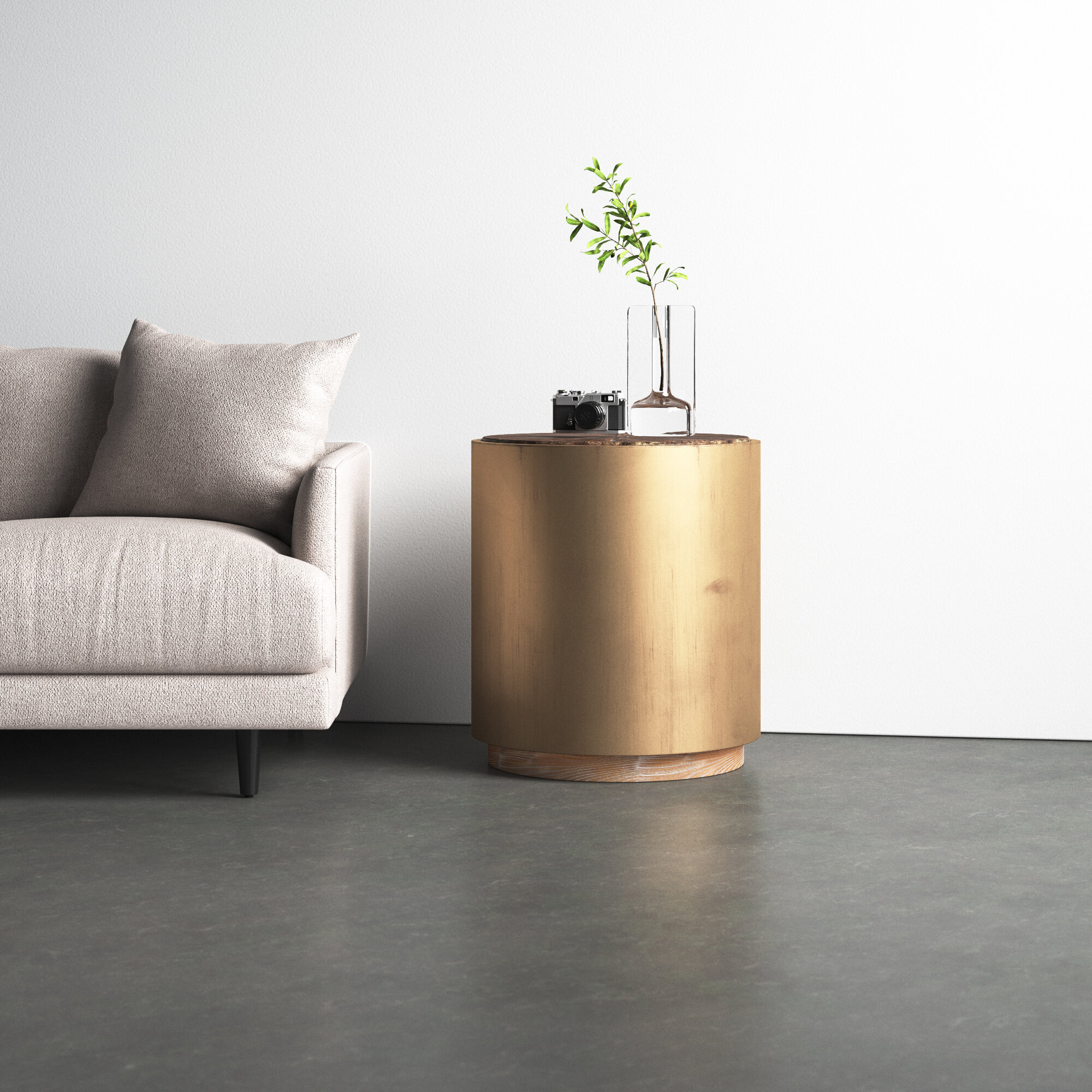 Haleigh End Table & Reviews | Allmodern Regarding Haleigh Armchairs (View 7 of 15)