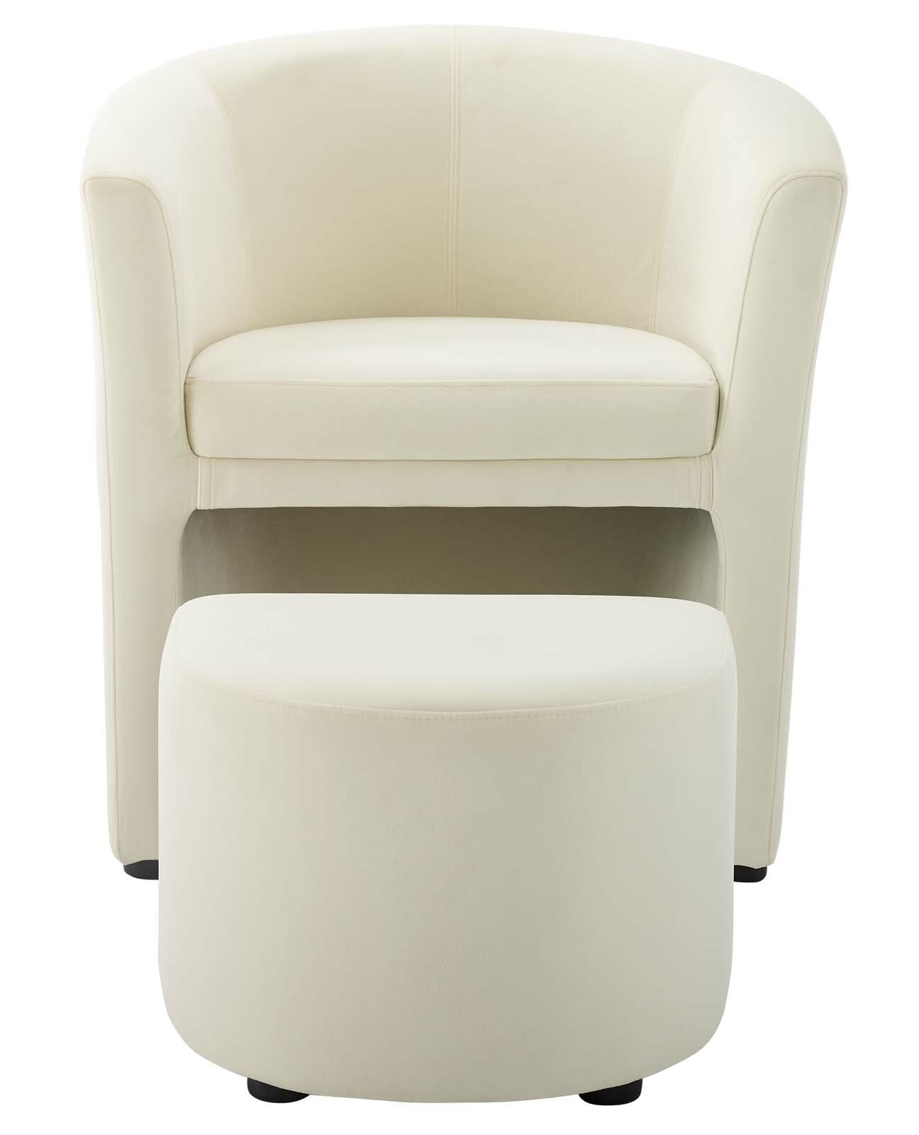 Featured Image of Hallsville Performance Velvet Armchairs And Ottoman