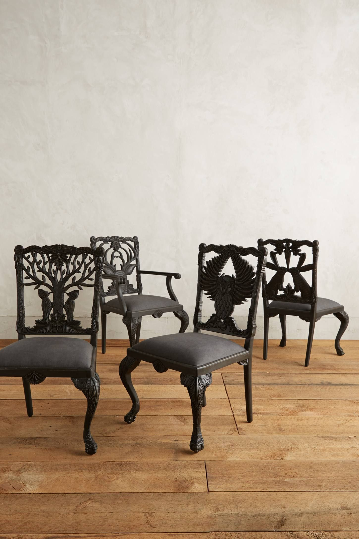 Handcarved Menagerie Deer Armchair | Dining Chairs Intended For Deer Trail Armchairs (View 8 of 15)