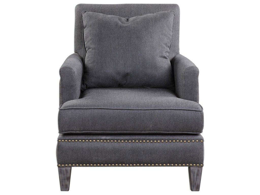 Handsome T Cushion Armchair With Loose Back Pillow In In Reynolds Armchairs (View 13 of 15)
