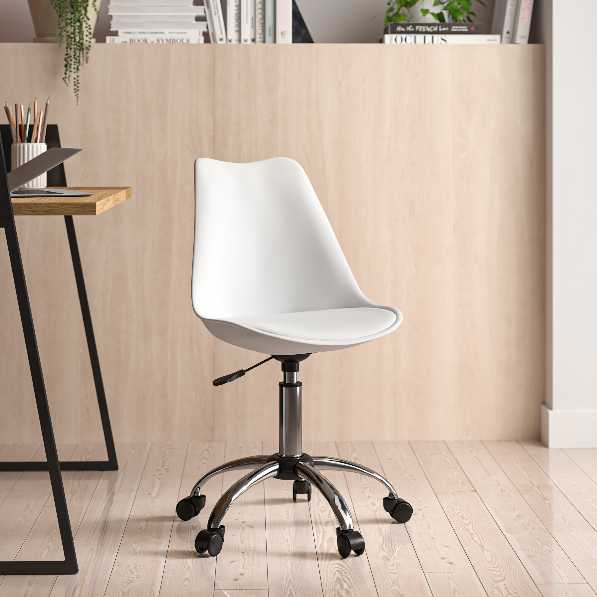 Harland Polyurethane Task Chair Regarding Harland Modern Armless Slipper Chairs (View 7 of 15)