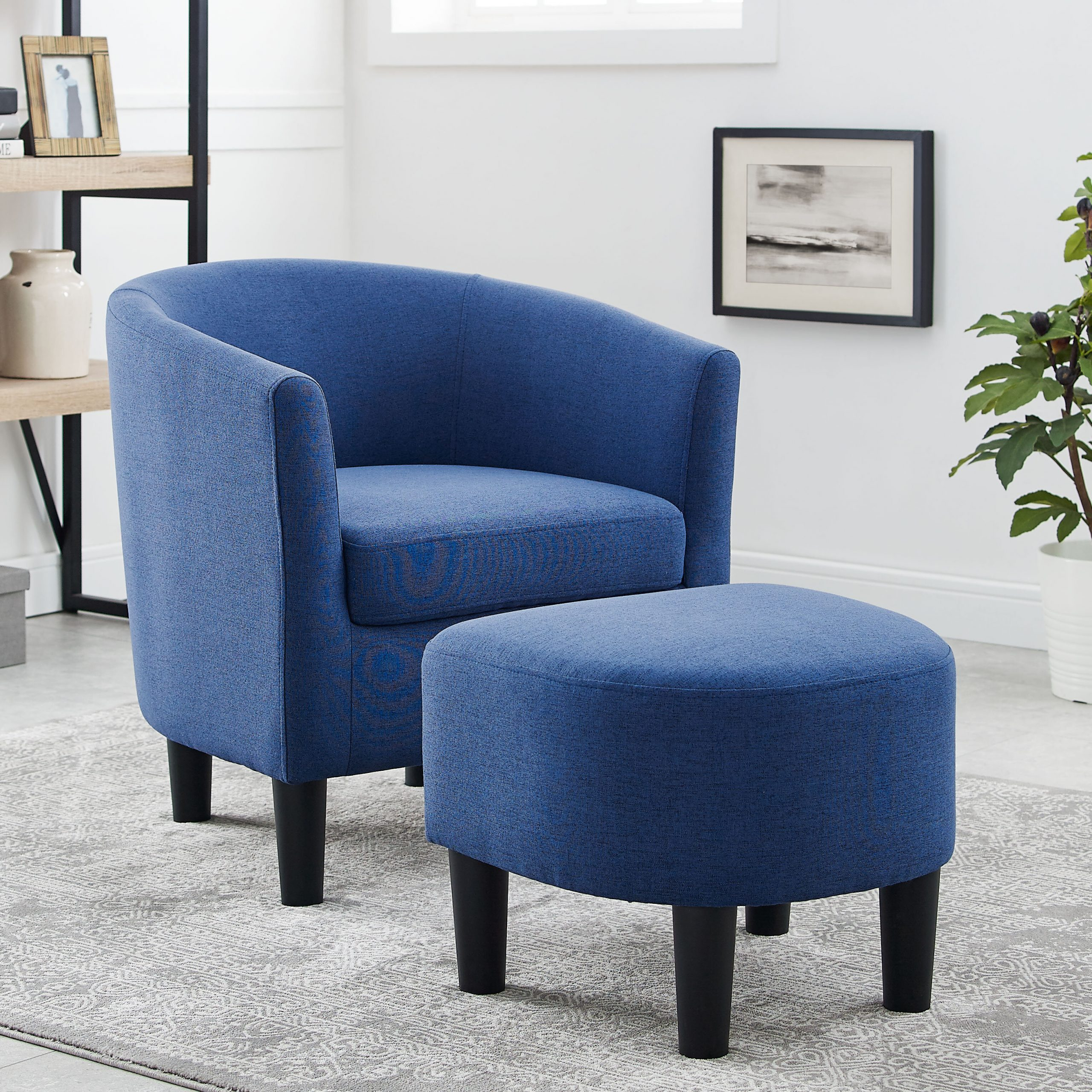 Featured Image of Harmon Cloud Barrel Chairs And Ottoman
