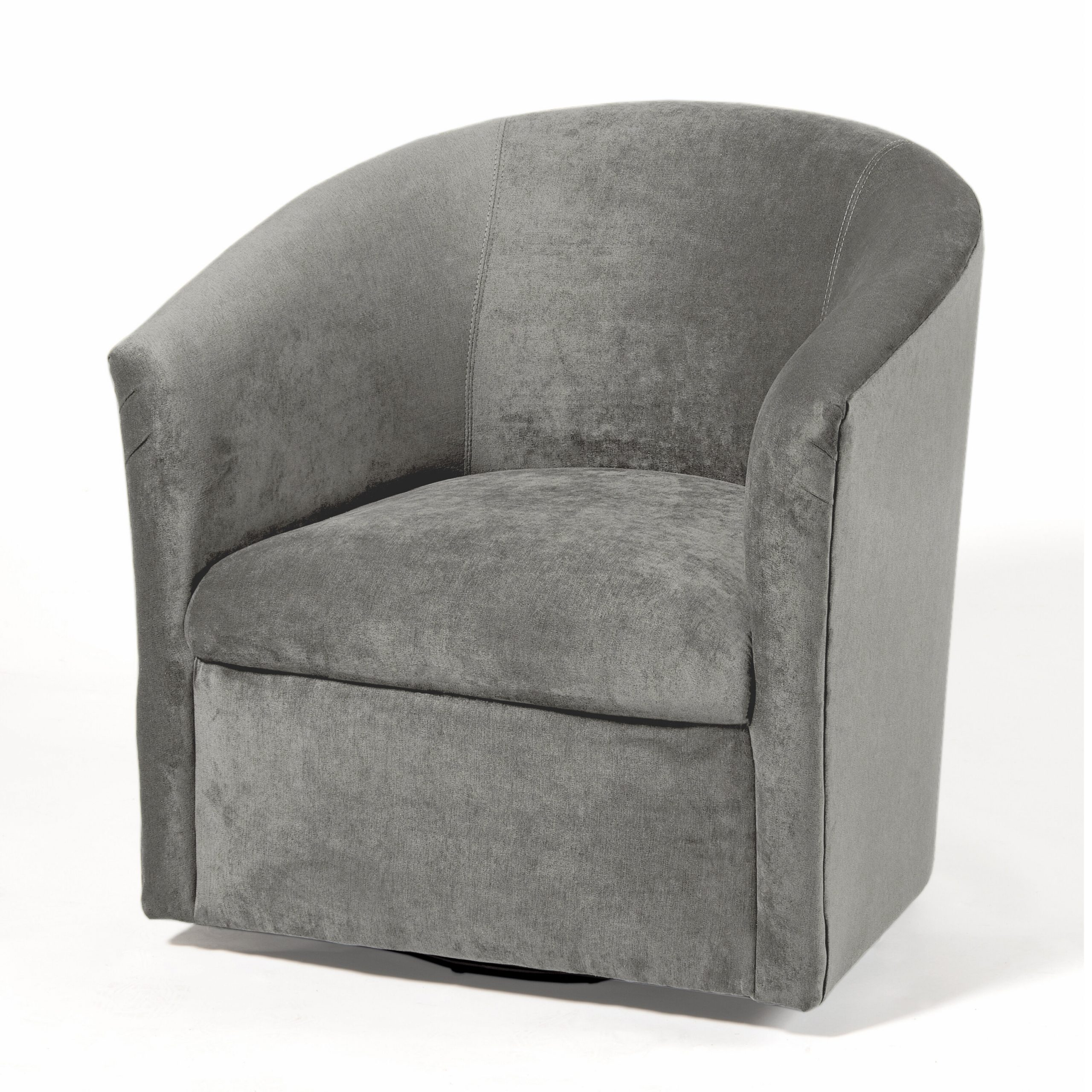Harmon Cloud Barrel Chair And Ottoman Throughout Coomer Faux Leather Barrel Chairs (View 4 of 15)