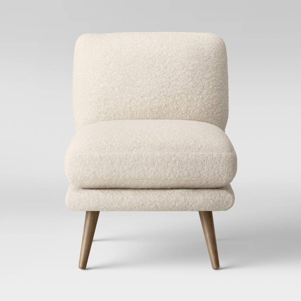Harper Faux Fur Slipper Chair Sherpa – Project 62 – Target Inside Biggerstaff Polyester Blend Armchairs (View 8 of 15)