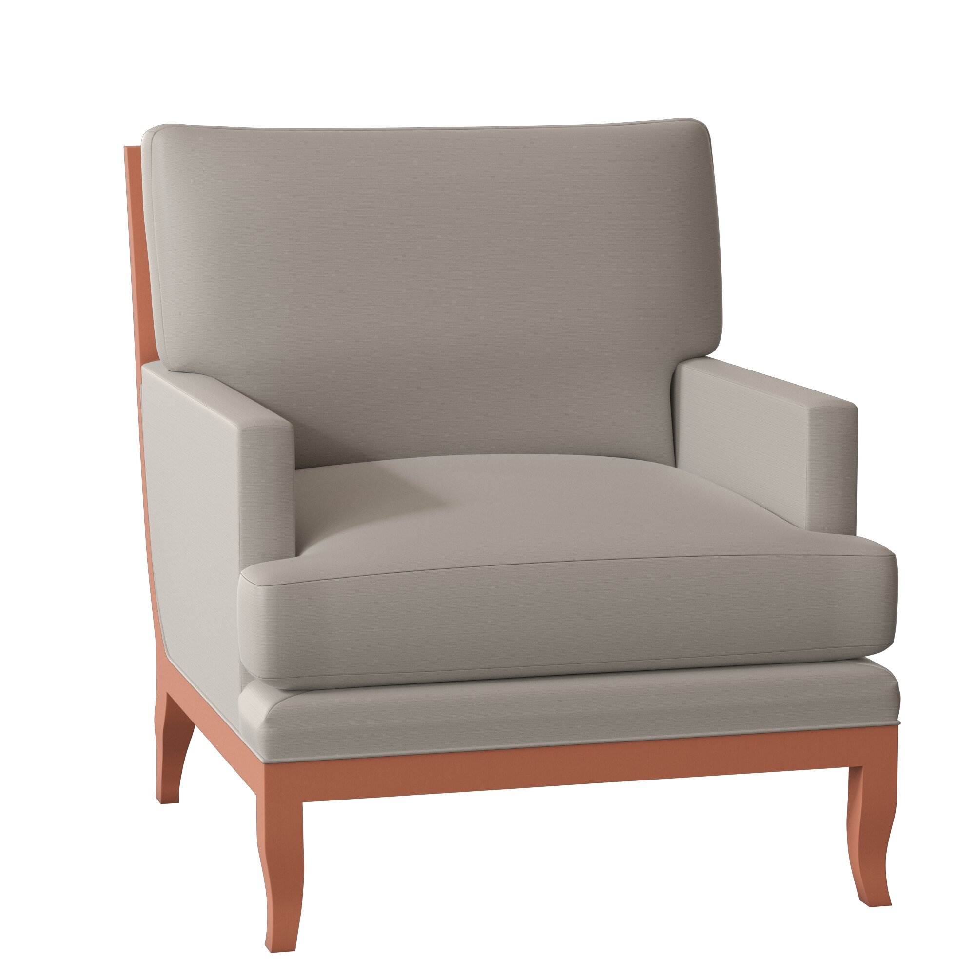 Haylles Armchair Regarding Alexander Cotton Blend Armchairs And Ottoman (View 5 of 15)