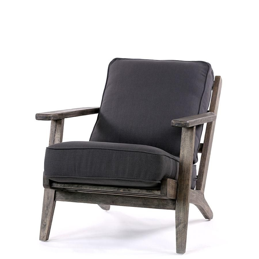 Henry Plank Arm Chair Charcoal – Black Mango | Chair For Draco Armchairs (View 9 of 15)
