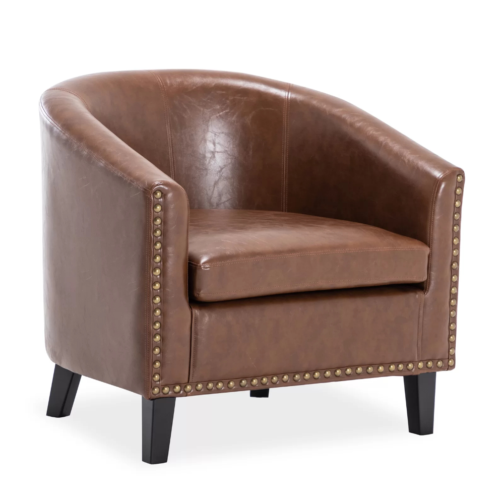 Hiliritas Barrel Chair In 2020 | Barrel Chair, Chair, Chair Pertaining To Jazouli Linen Barrel Chairs And Ottoman (View 6 of 15)