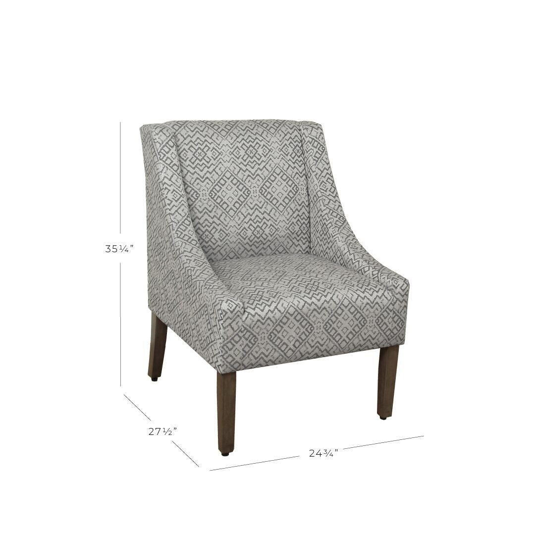 Homepop Swoop Accent Chair In Tonal Gray Intended For Altamahaw Swoop Side Chairs (View 15 of 15)