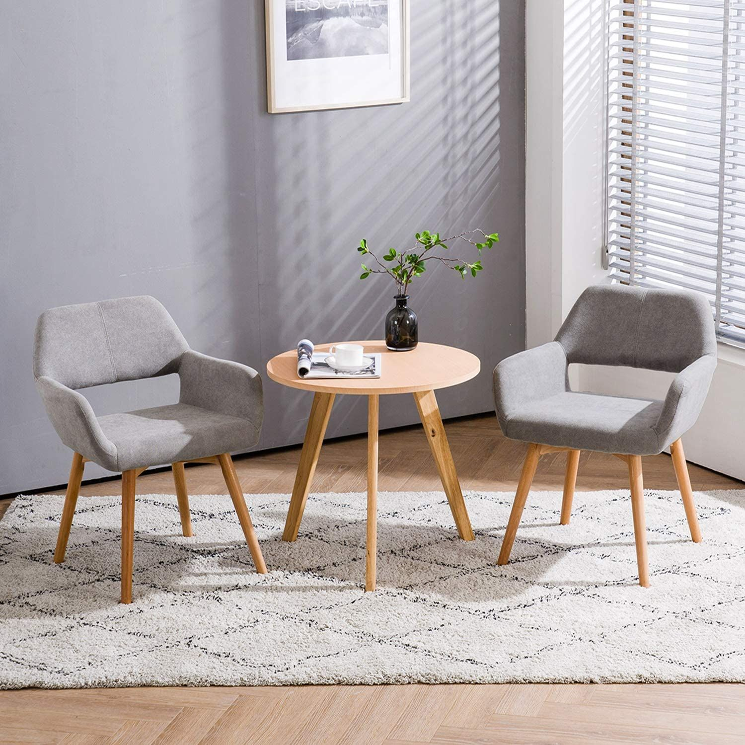 Homy Grigio Modern Living Dining Room Accent Arm Chairs Club Intended For Brister Swivel Side Chairs (View 14 of 15)